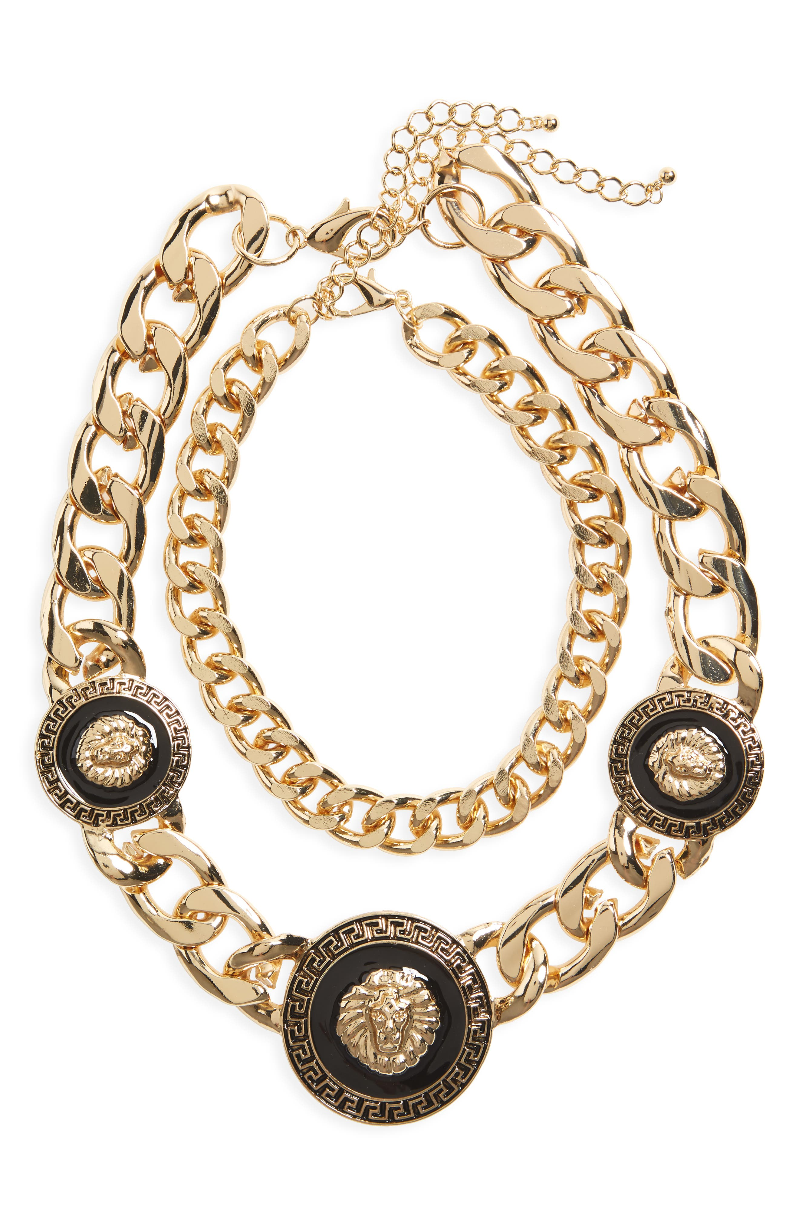BP. Lion Chunky Statement Necklace