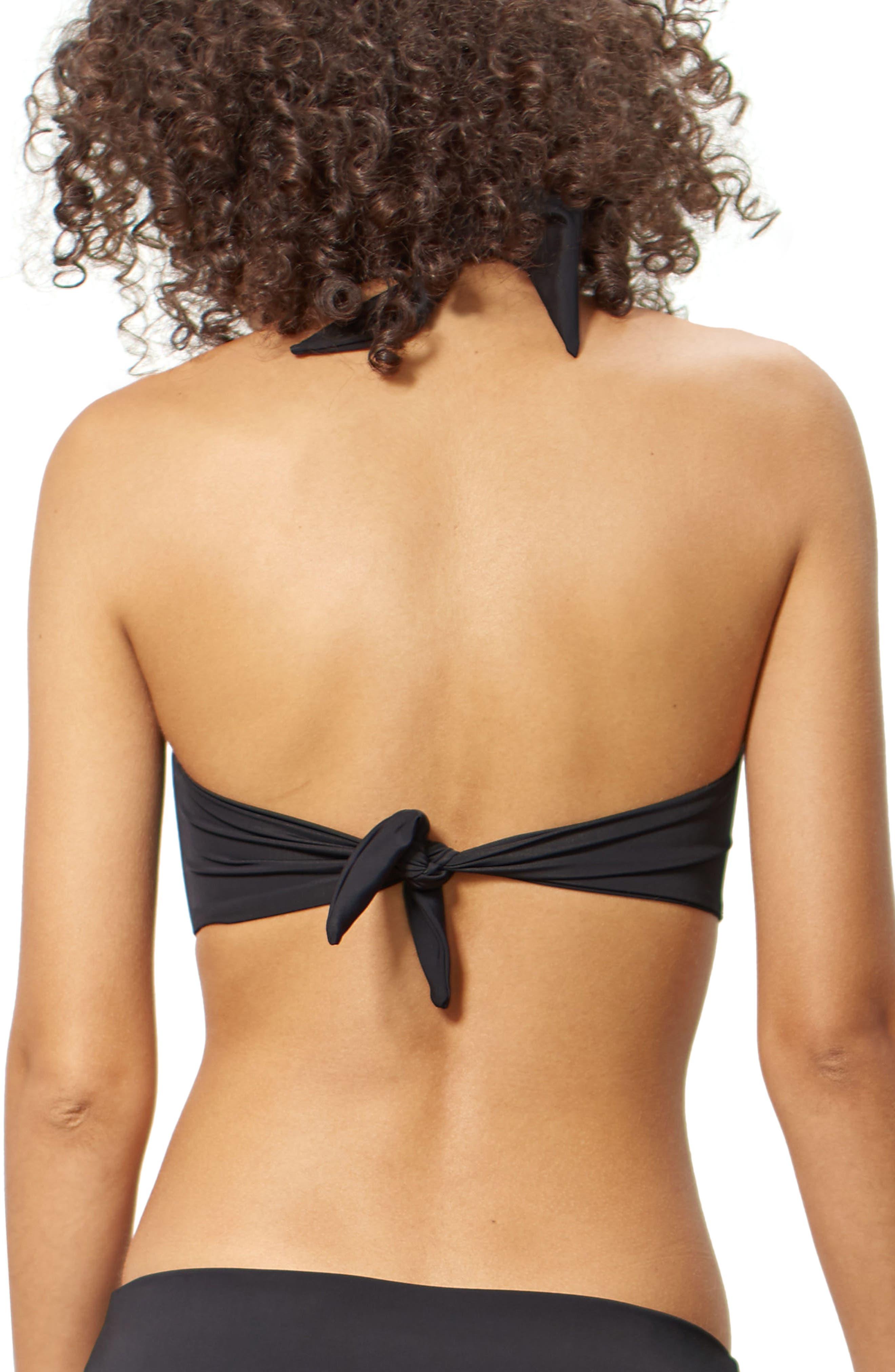 Odette Bikini Top,                             Alternate thumbnail 2, color,                             Black