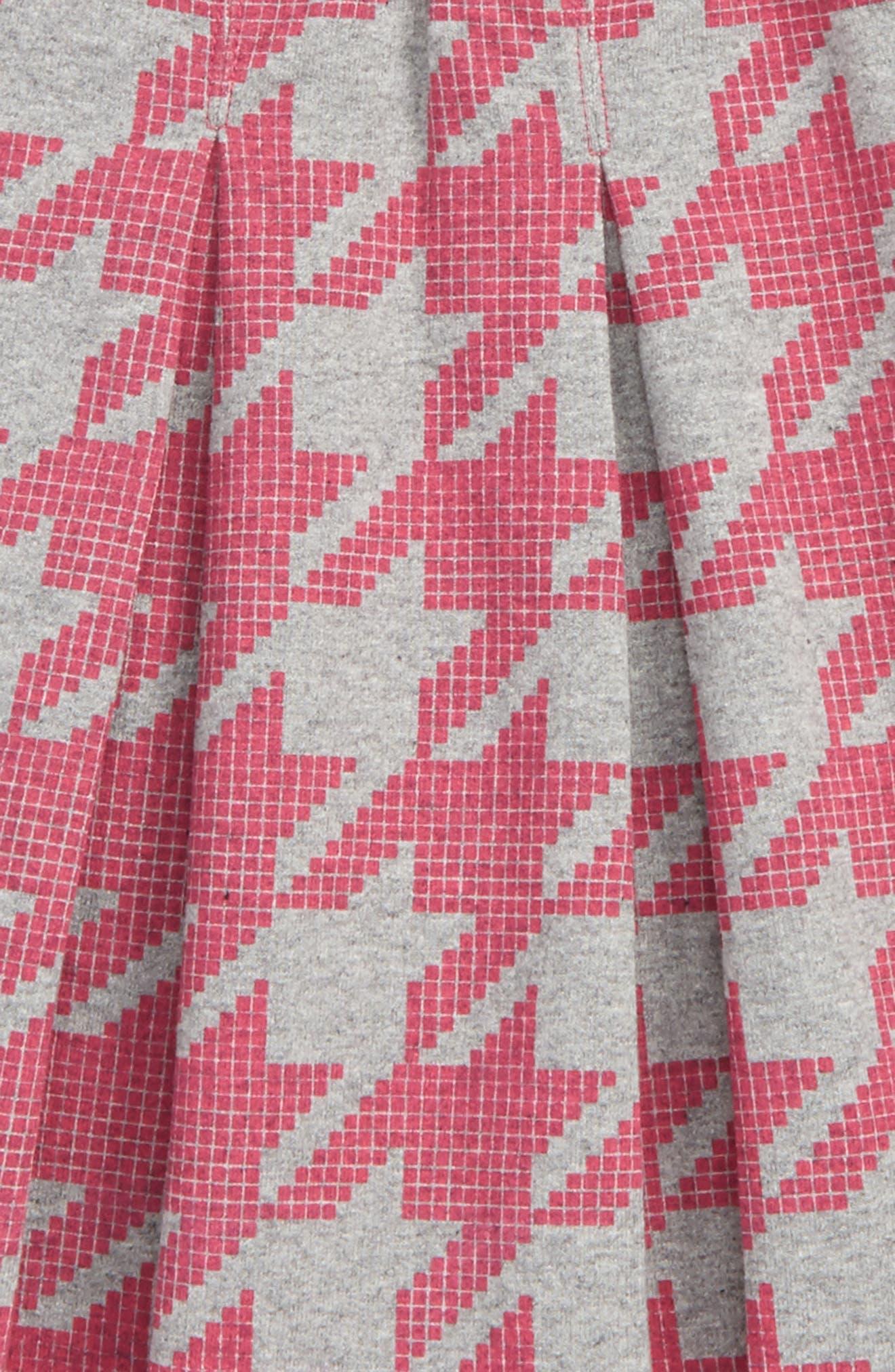 Houndstooth Skirt,                             Alternate thumbnail 2, color,                             Pink