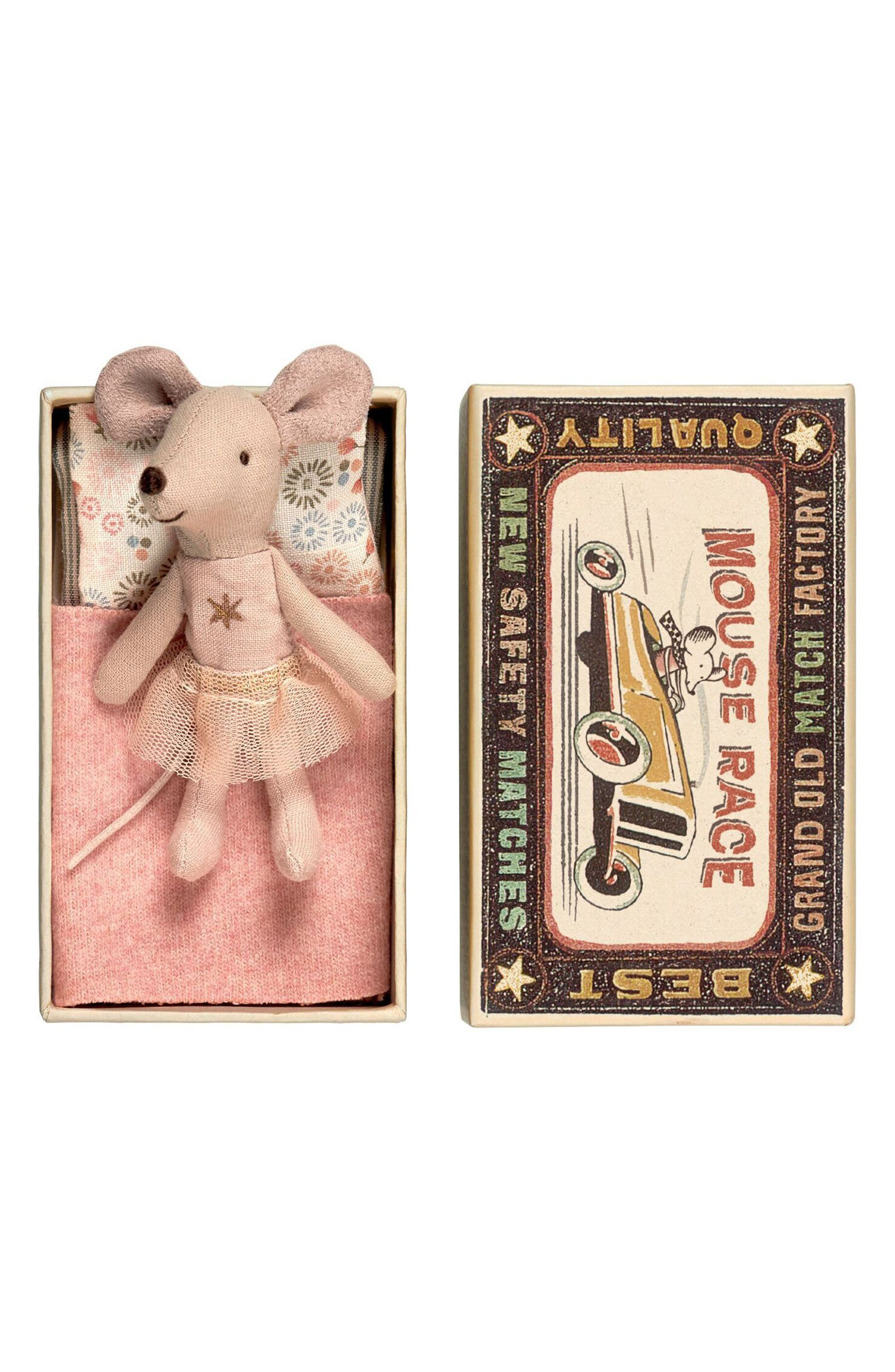 Maileg Little Sister Star Toy Mouse in a Box