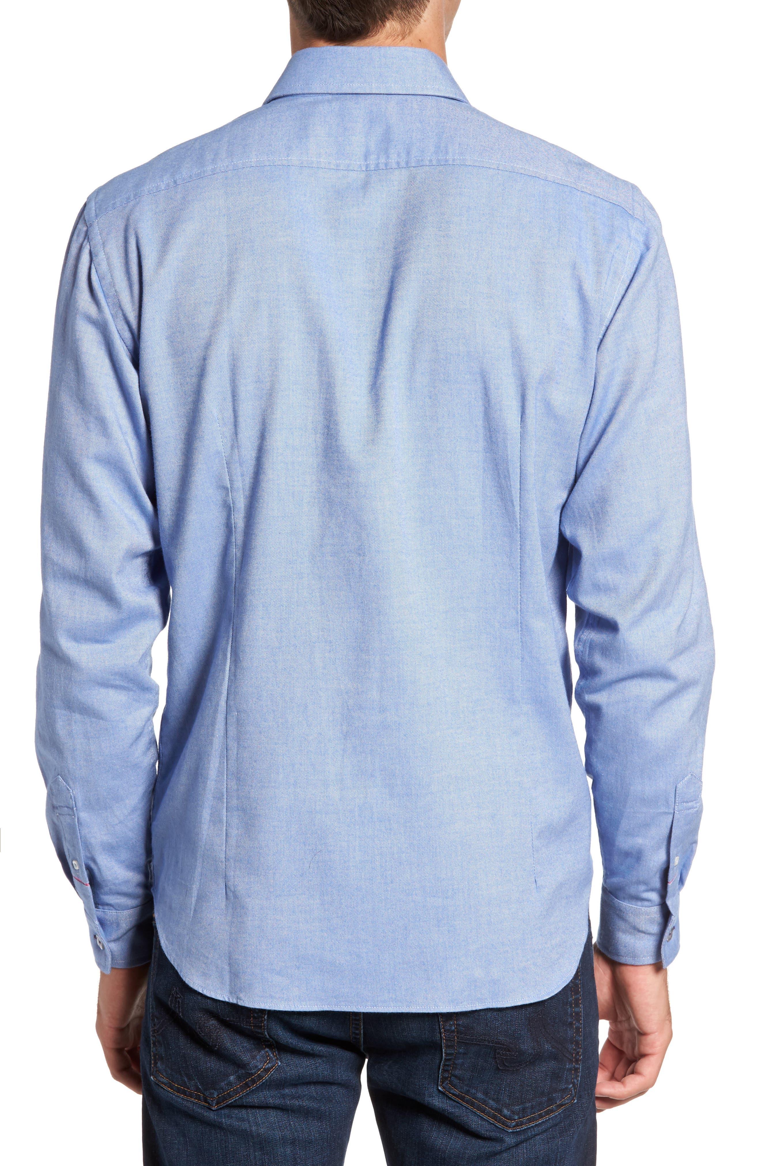 Alternate Image 2  - Jeremy Argyle Slim Fit Oxford Cloth Sport Shirt
