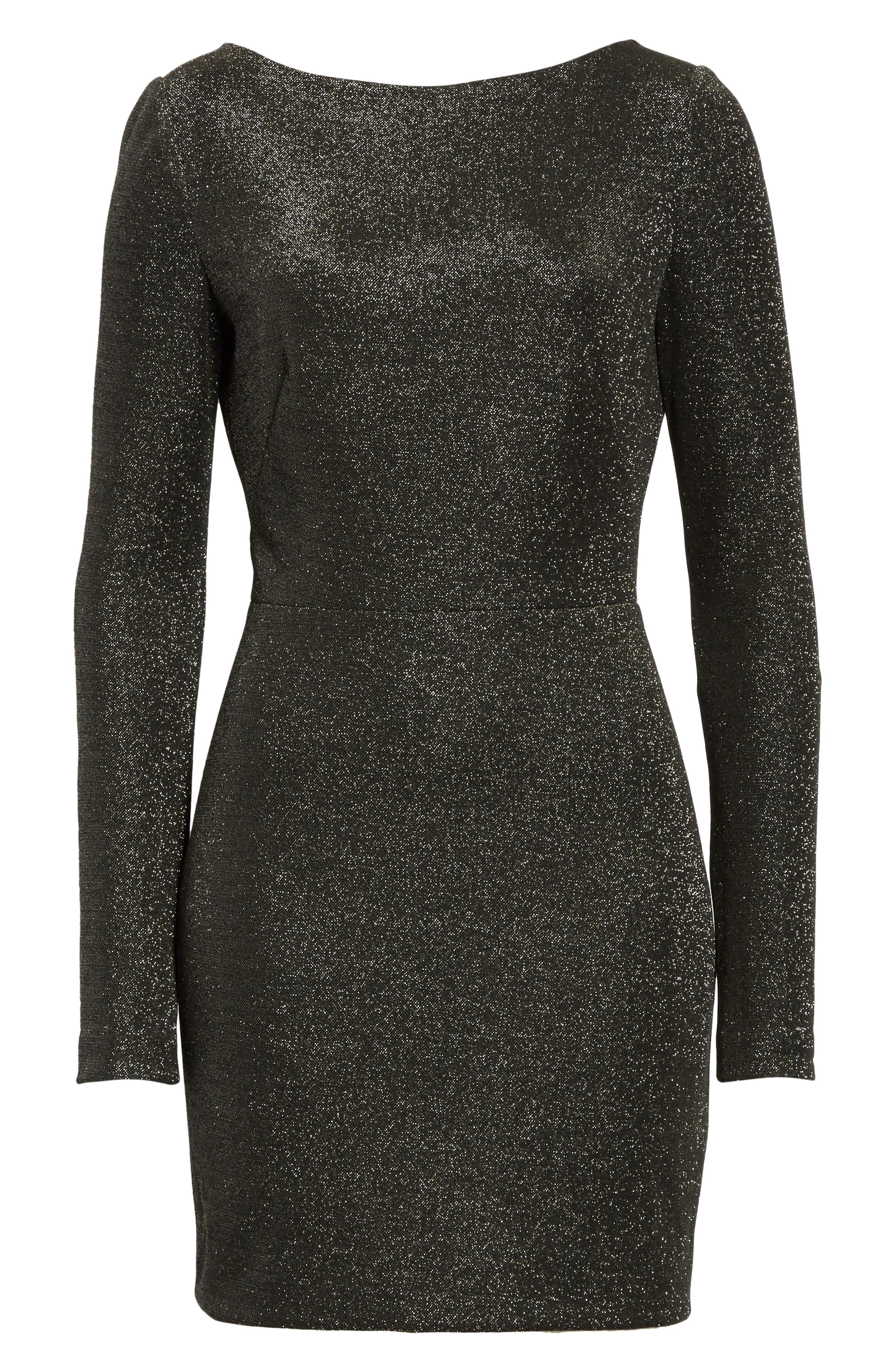 Diane von Furstenberg Sparkle Sheath Minidress,                             Alternate thumbnail 6, color,                             Black