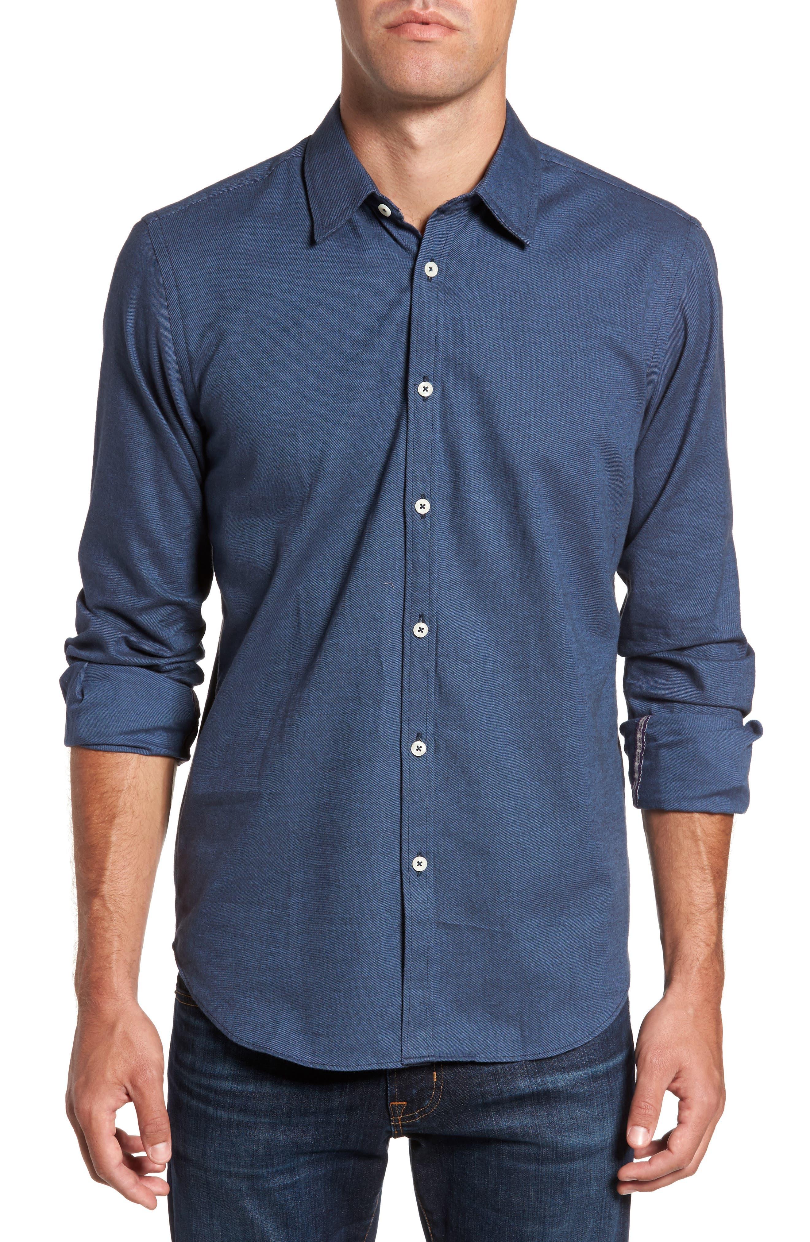Main Image - Jeremy Argyle Slim Fit Solid Sport Shirt