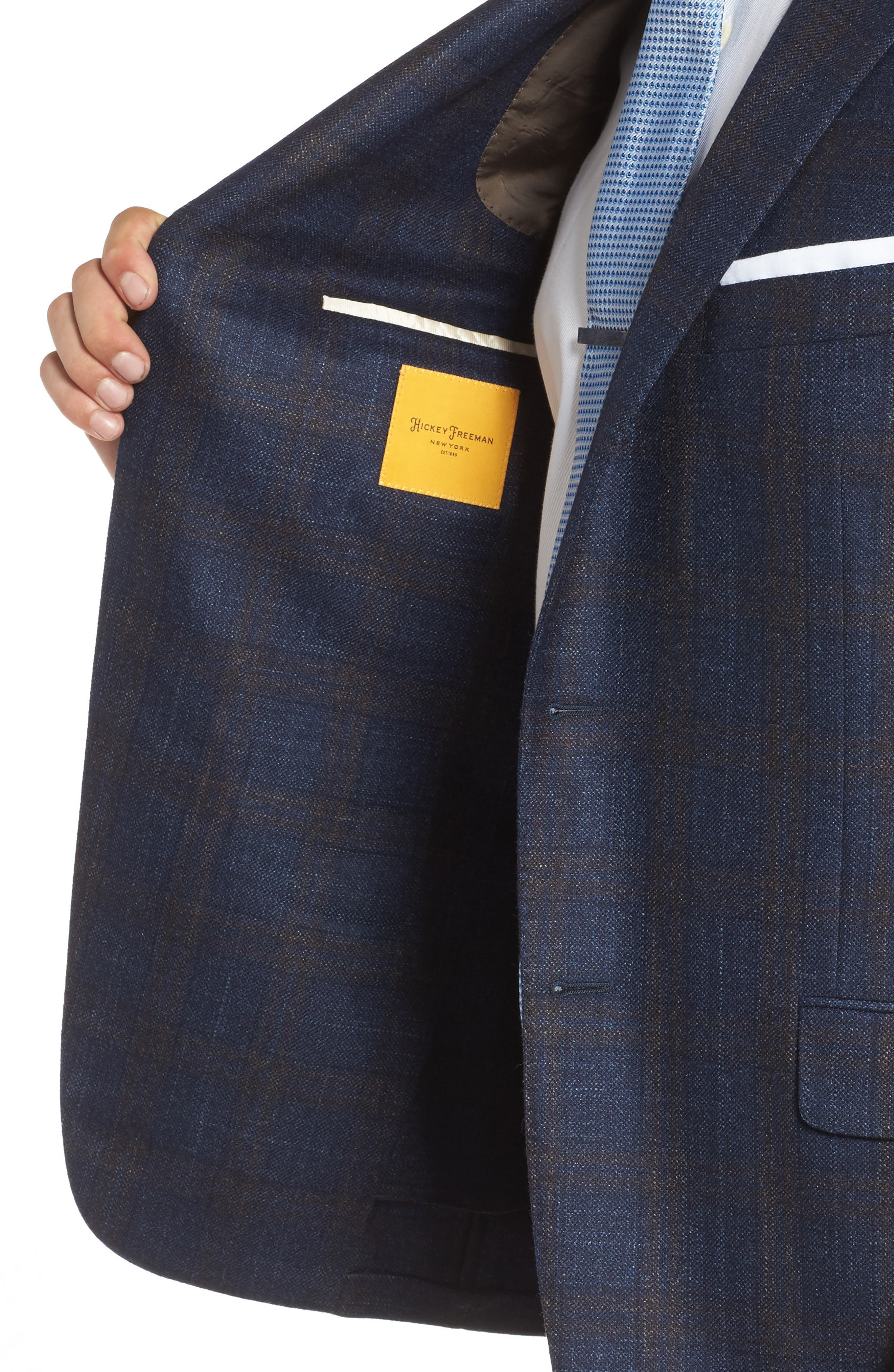 Alternate Image 4  - Hickey Freeman Classic B Fit Plaid Wool Blend Sport Coat