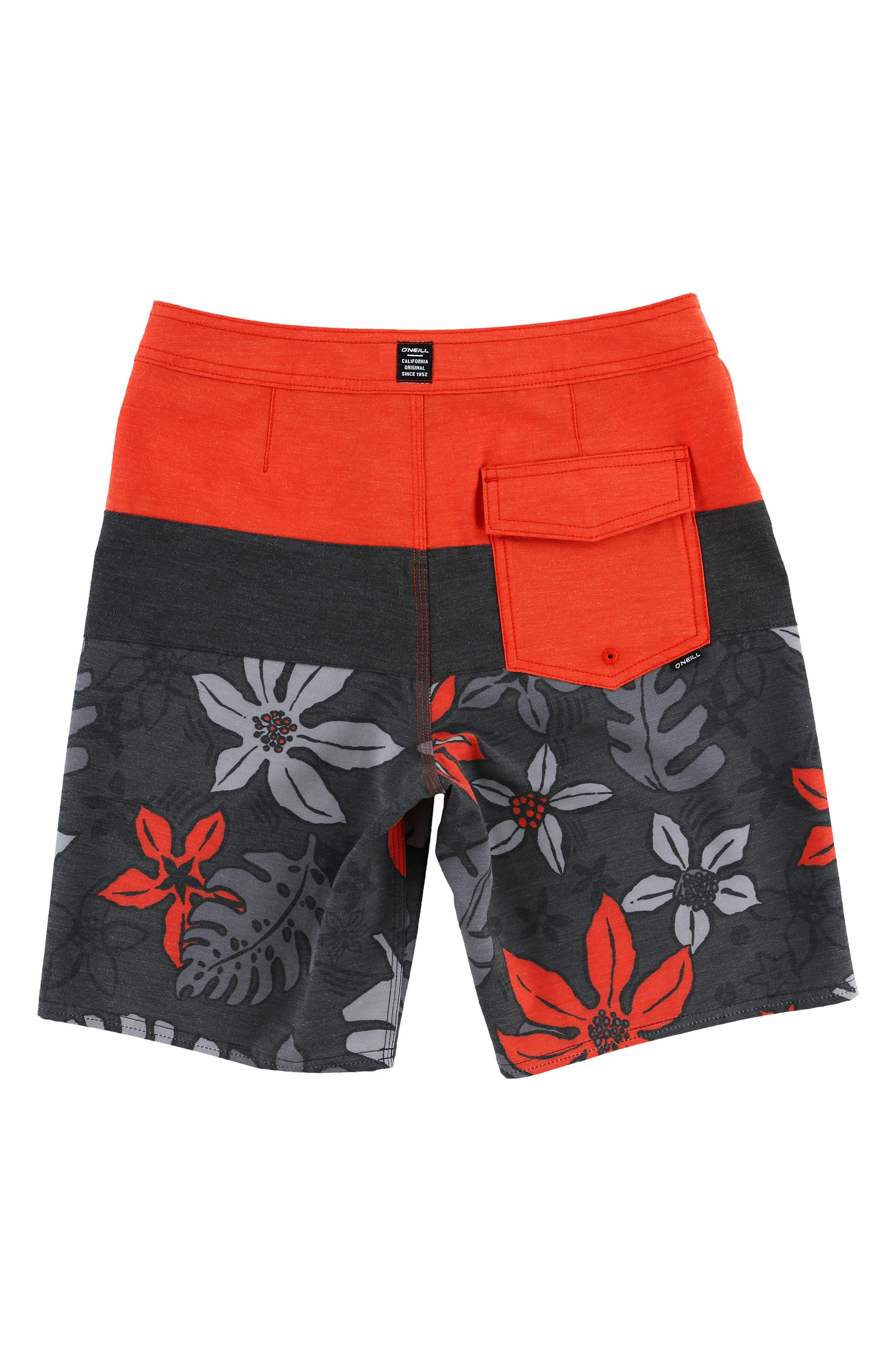 Hyperfreak Lahaina Board Shorts,                         Main,                         color, Neon Red