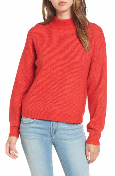 Women's Leith Red Sweaters | Nordstrom