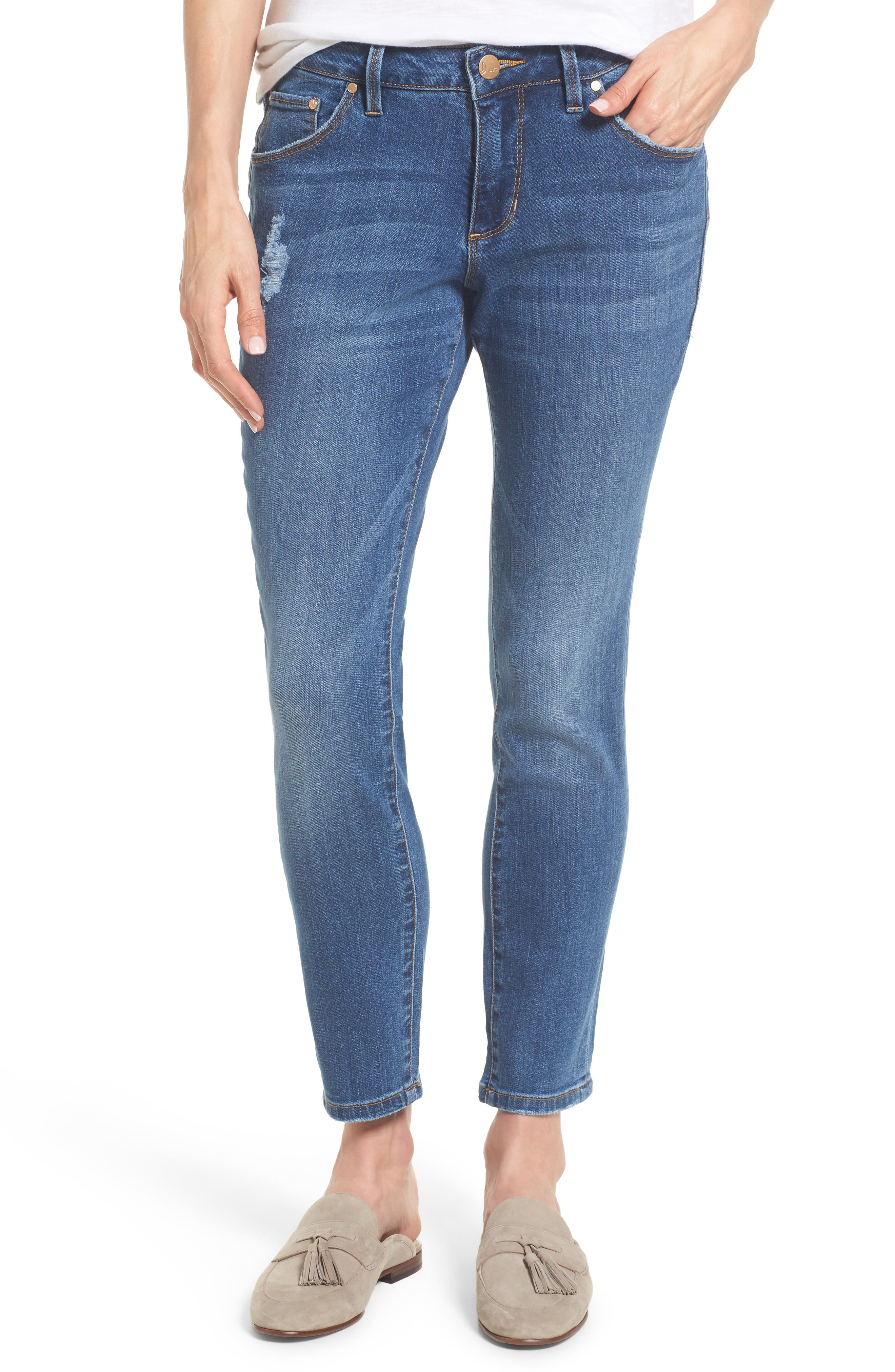 Alternate Image 1 Selected - Jag Jeans Mera Skinny Ankle Jeans (Mineral Wash)