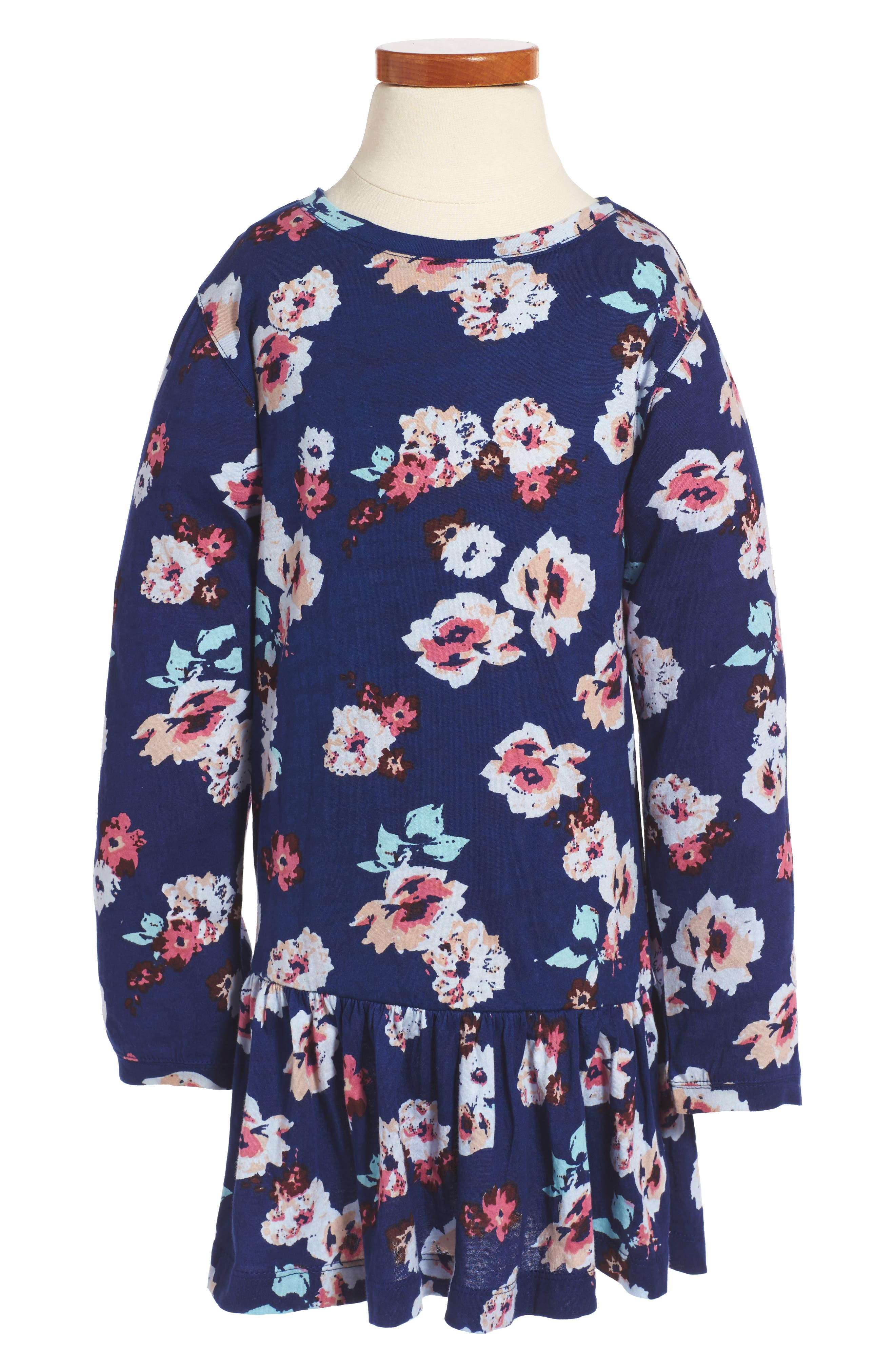 Peek Maddie Floral Print Drop Waist Dress (Toddler Girls, Little Girls & Big Girls)