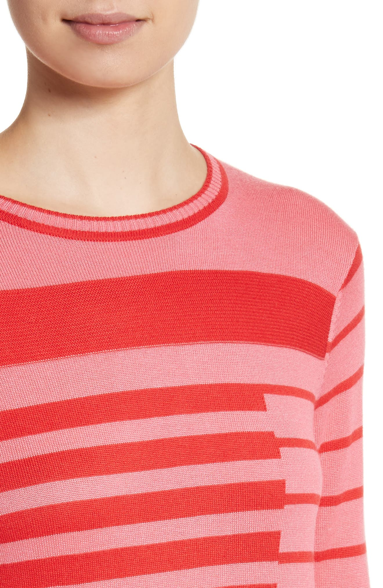 Alternate Image 4  - St. John Collection Intarsia Stripe Sweater