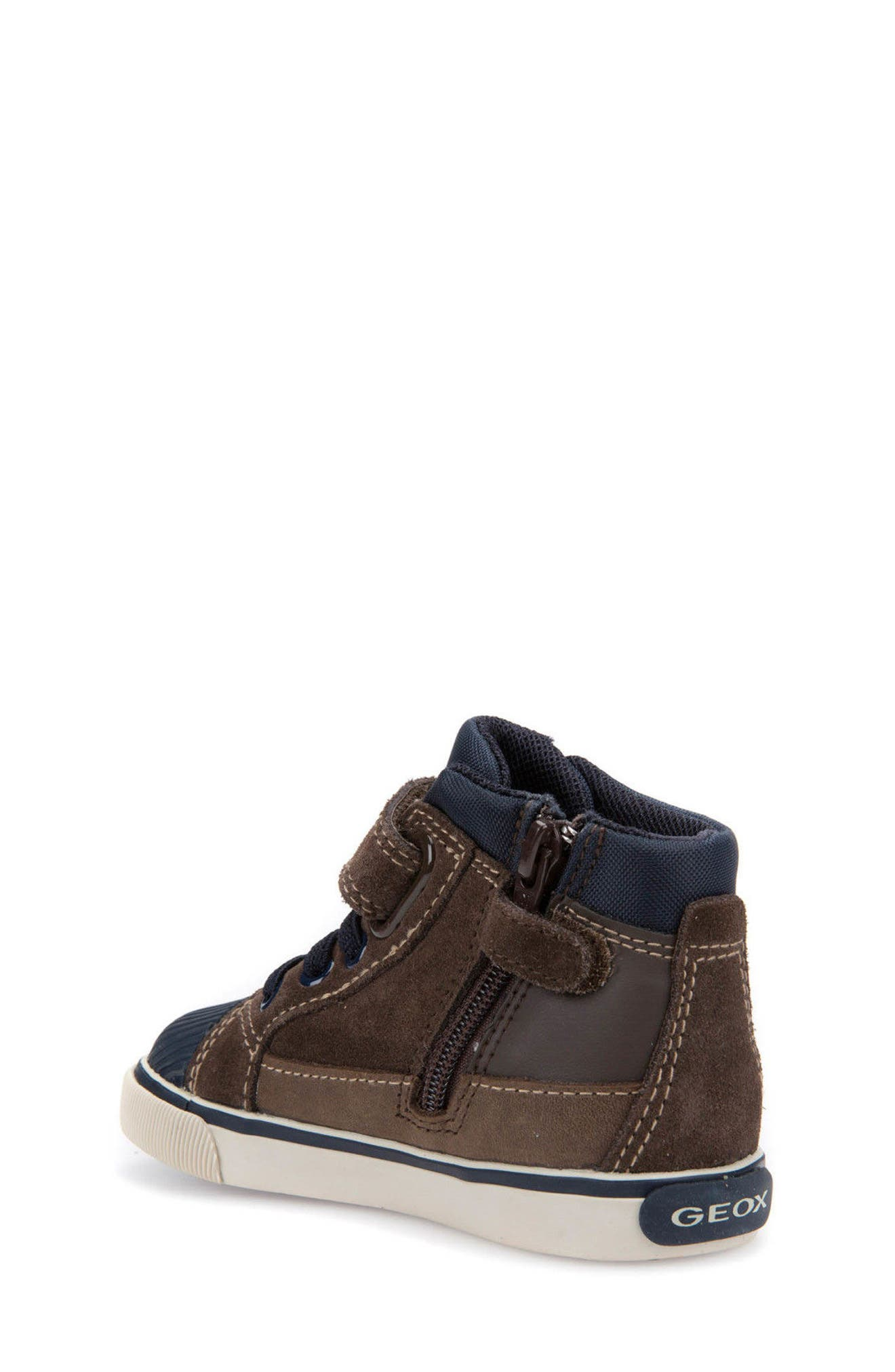'Kiwi' High Top Sneaker,                             Alternate thumbnail 2, color,                             Chestnut/ Navy