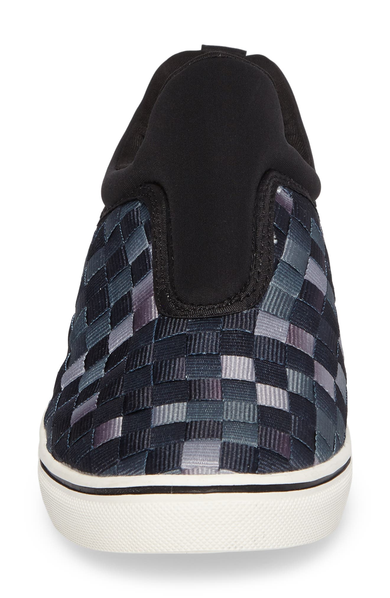 Bernie Mev Joan Slip-On Sneaker,                             Alternate thumbnail 4, color,                             Black Ombre Fabric
