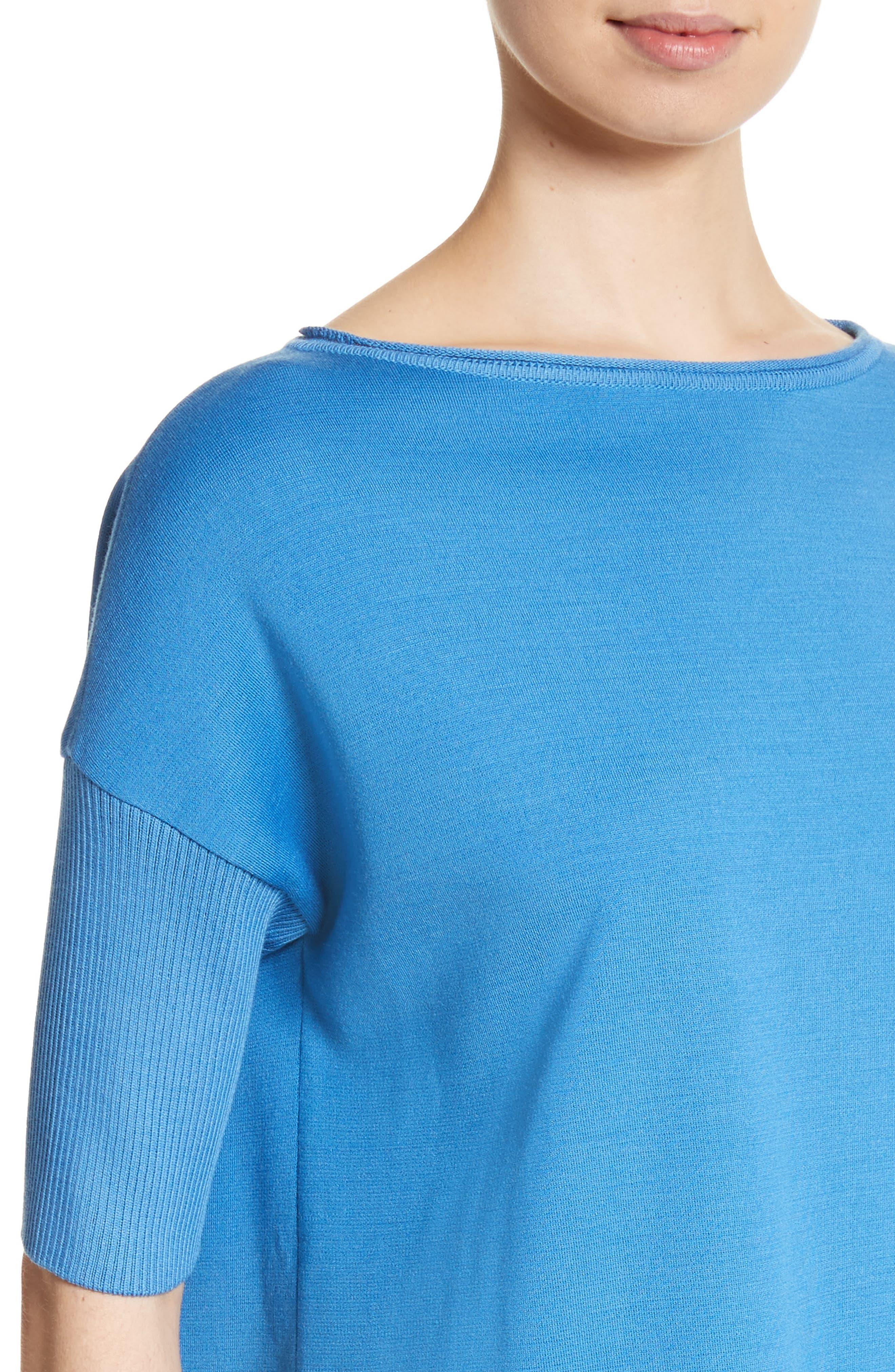 Milano Knit Tunic,                             Alternate thumbnail 4, color,                             Niagara