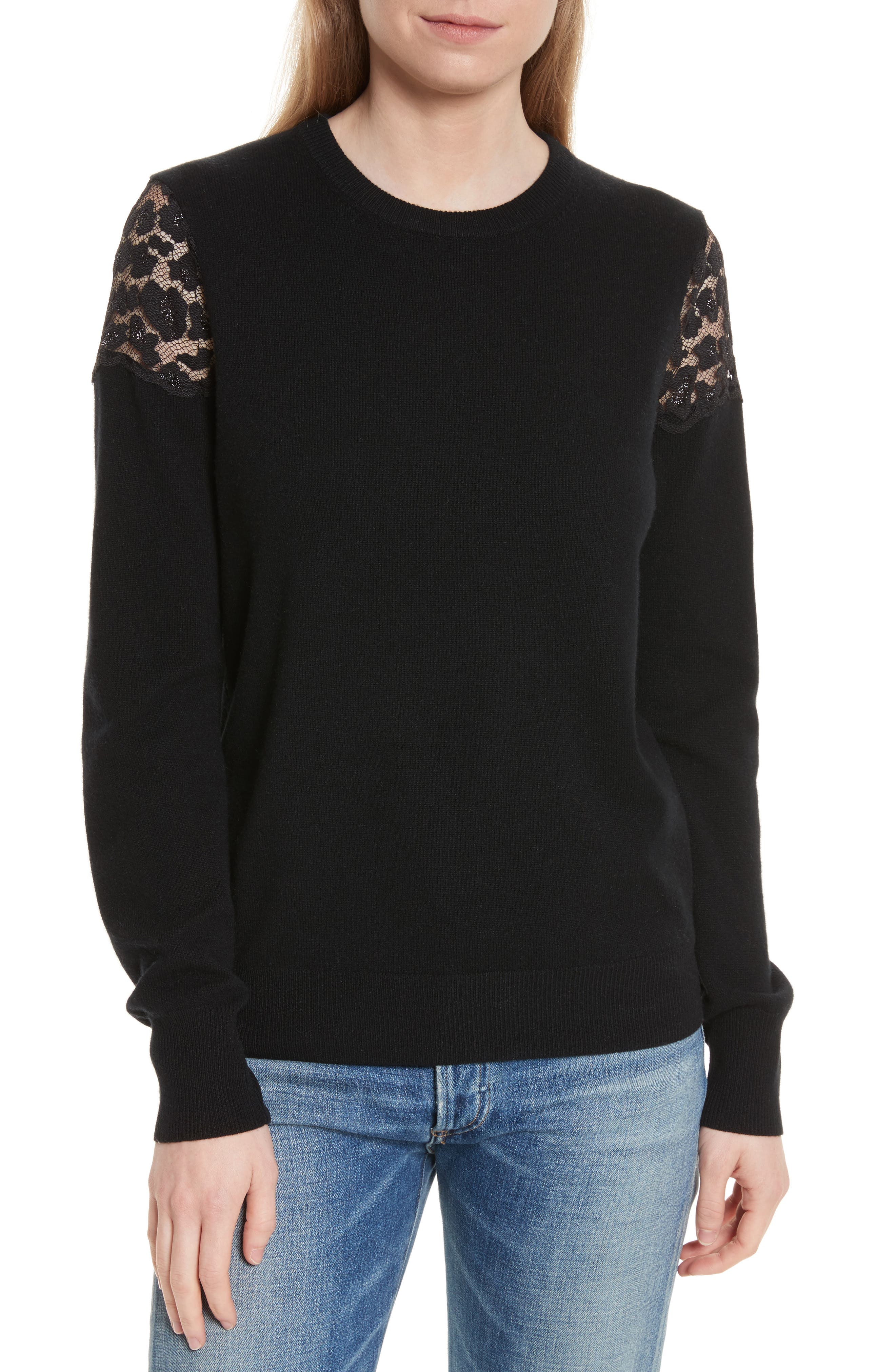 Shane Crew Pullover,                             Main thumbnail 1, color,                             Black