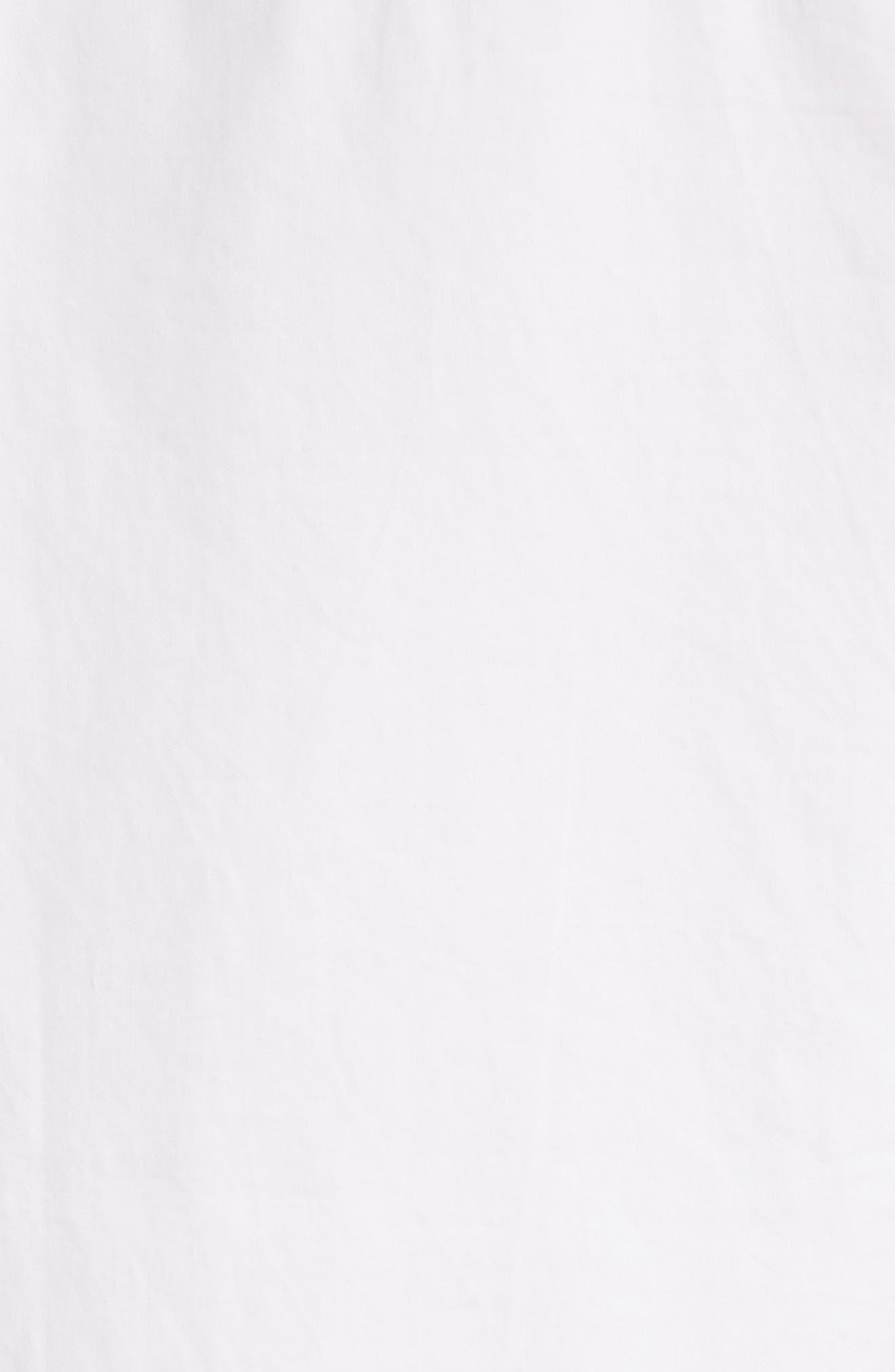 Arlette Cotton Shirt,                             Alternate thumbnail 5, color,                             Bright White