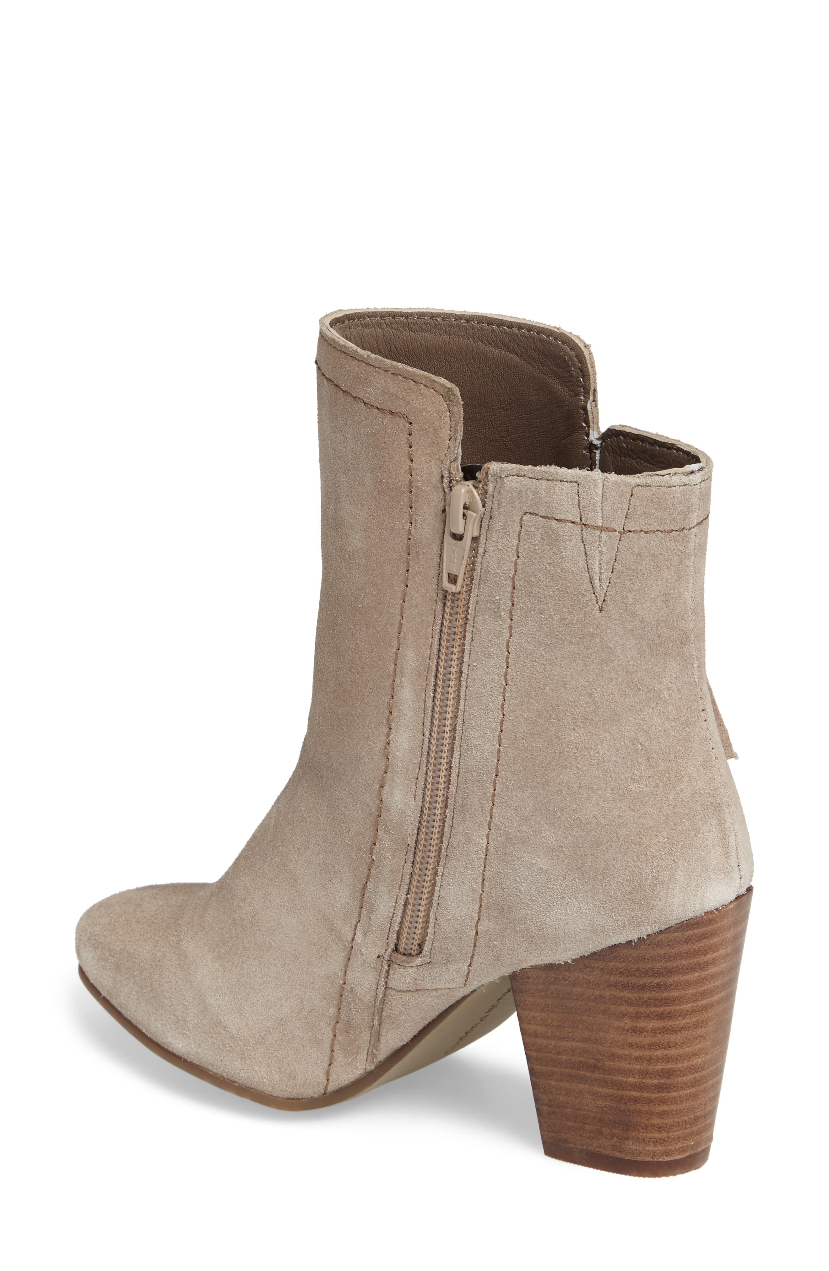 Daisee Billie Bootie,                             Alternate thumbnail 2, color,                             Taupe Suede