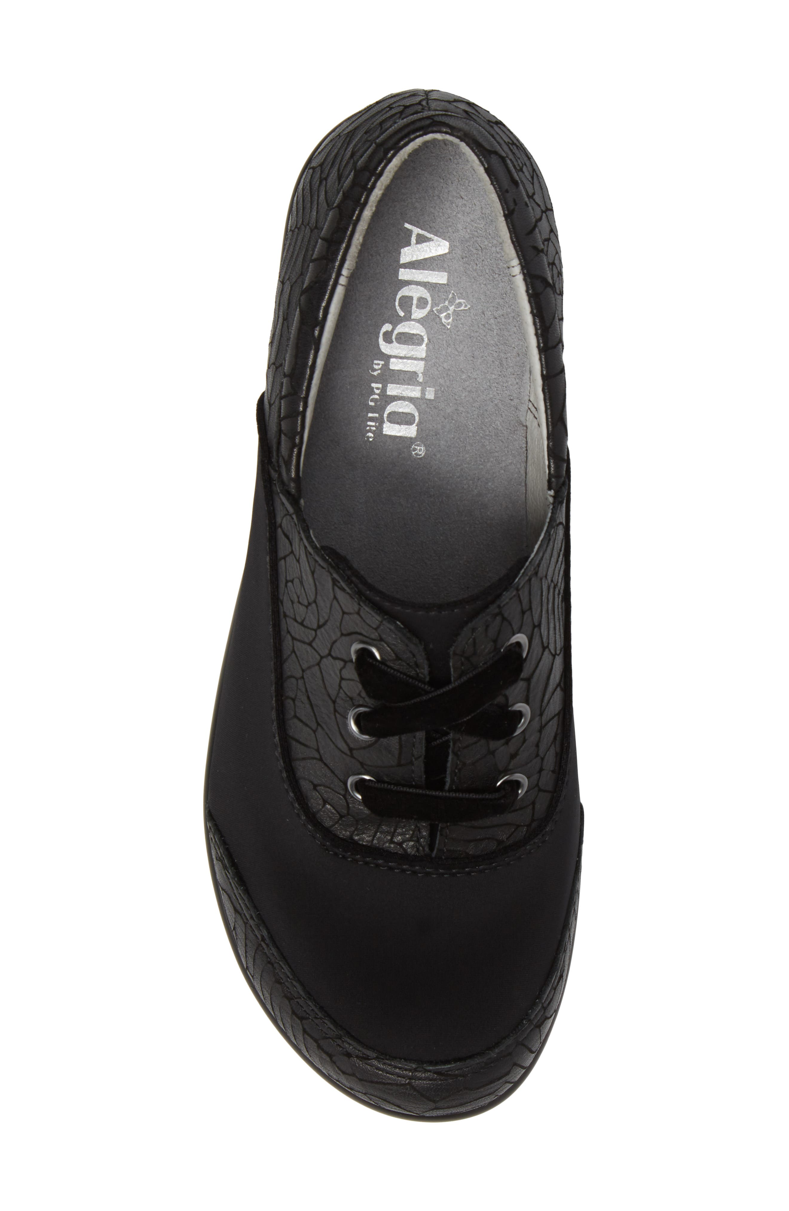 Madi Lace-Up Shoe,                             Alternate thumbnail 5, color,                             Floral Notes Leather