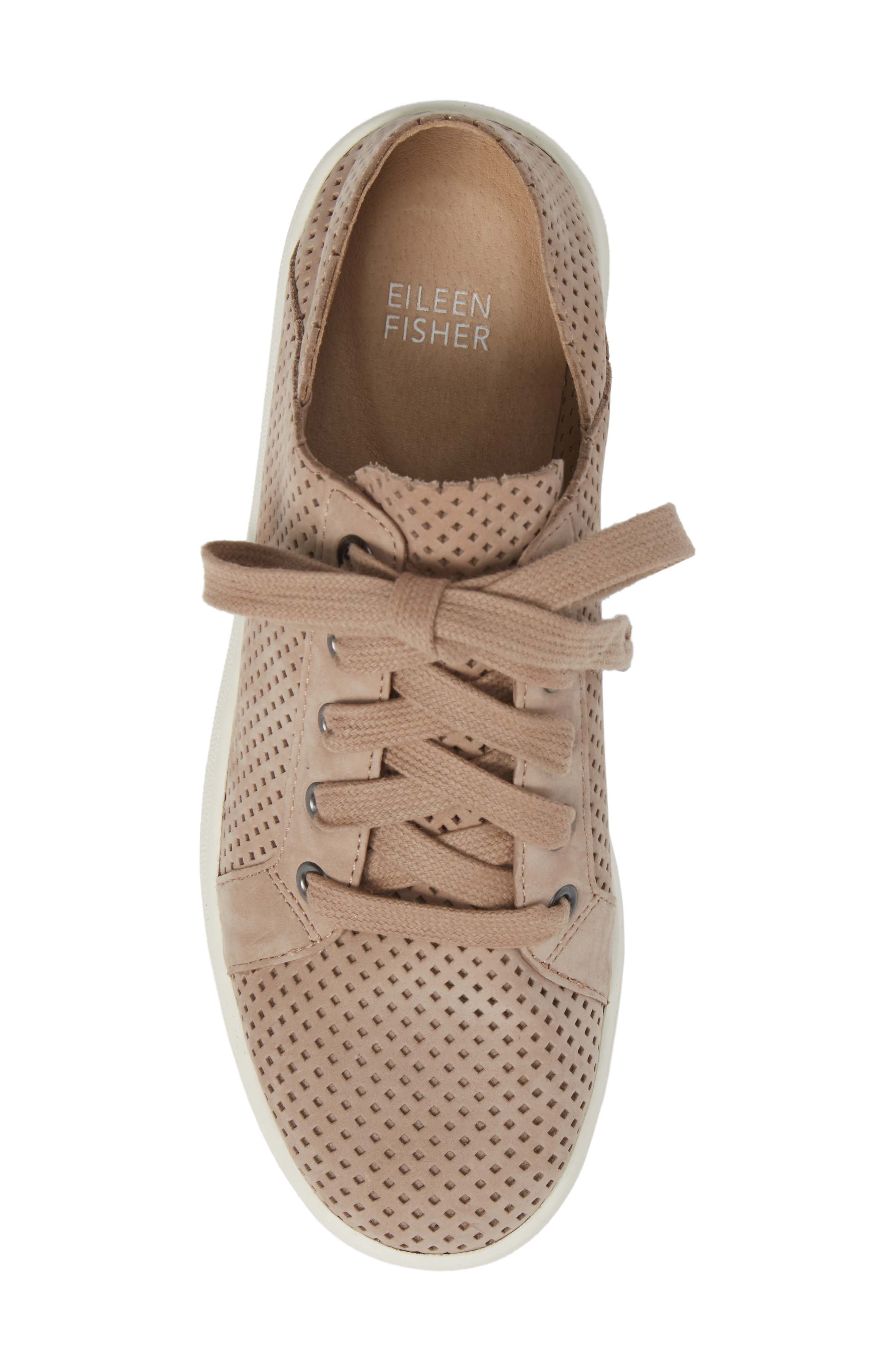 Clifton Perforated Sneaker,                             Alternate thumbnail 5, color,                             Earth Perforated Leather