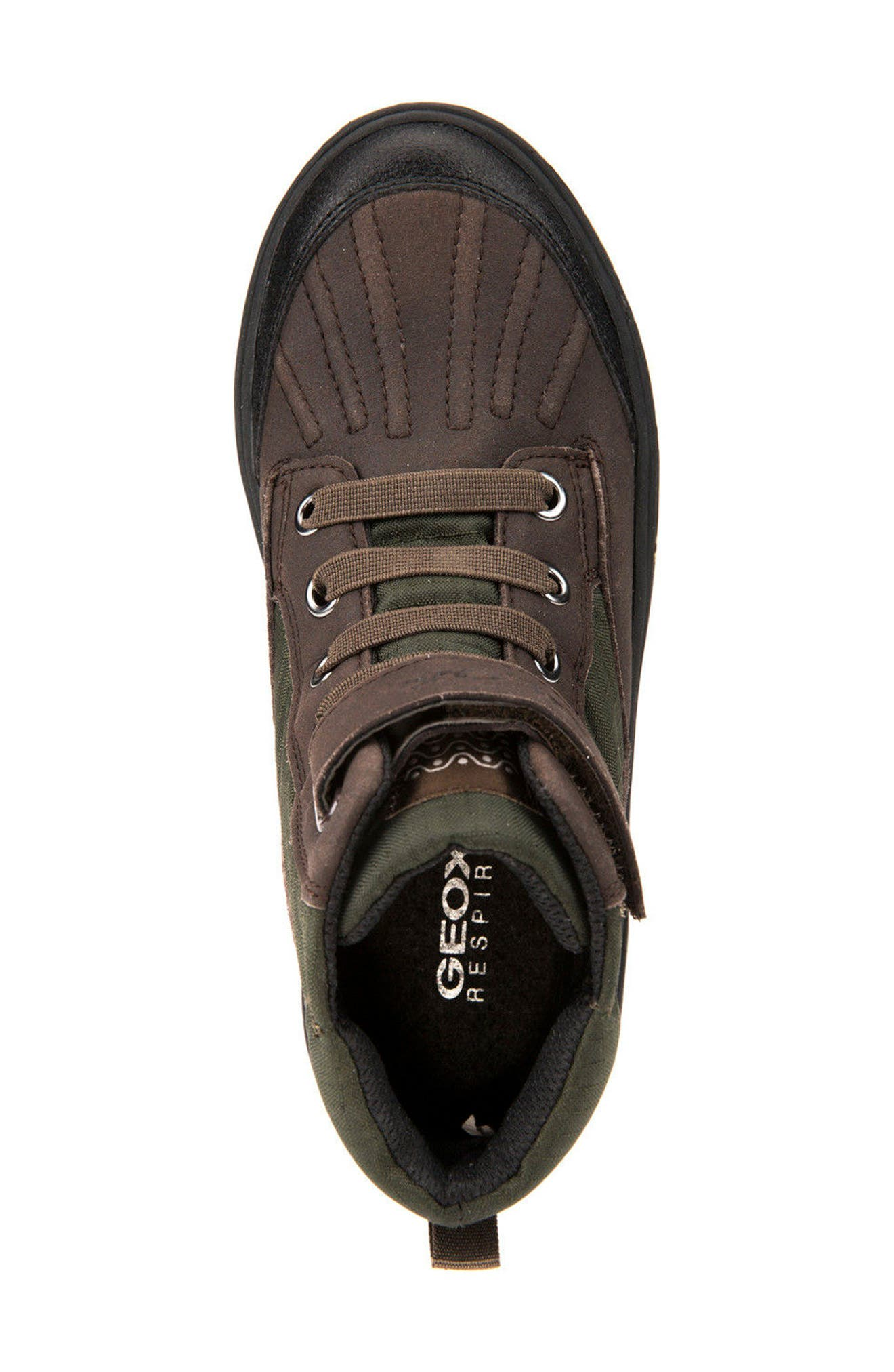 'Mattias - ABX' Amphibiox<sup>®</sup> Waterproof Sneaker,                             Alternate thumbnail 5, color,                             Green/ Brown