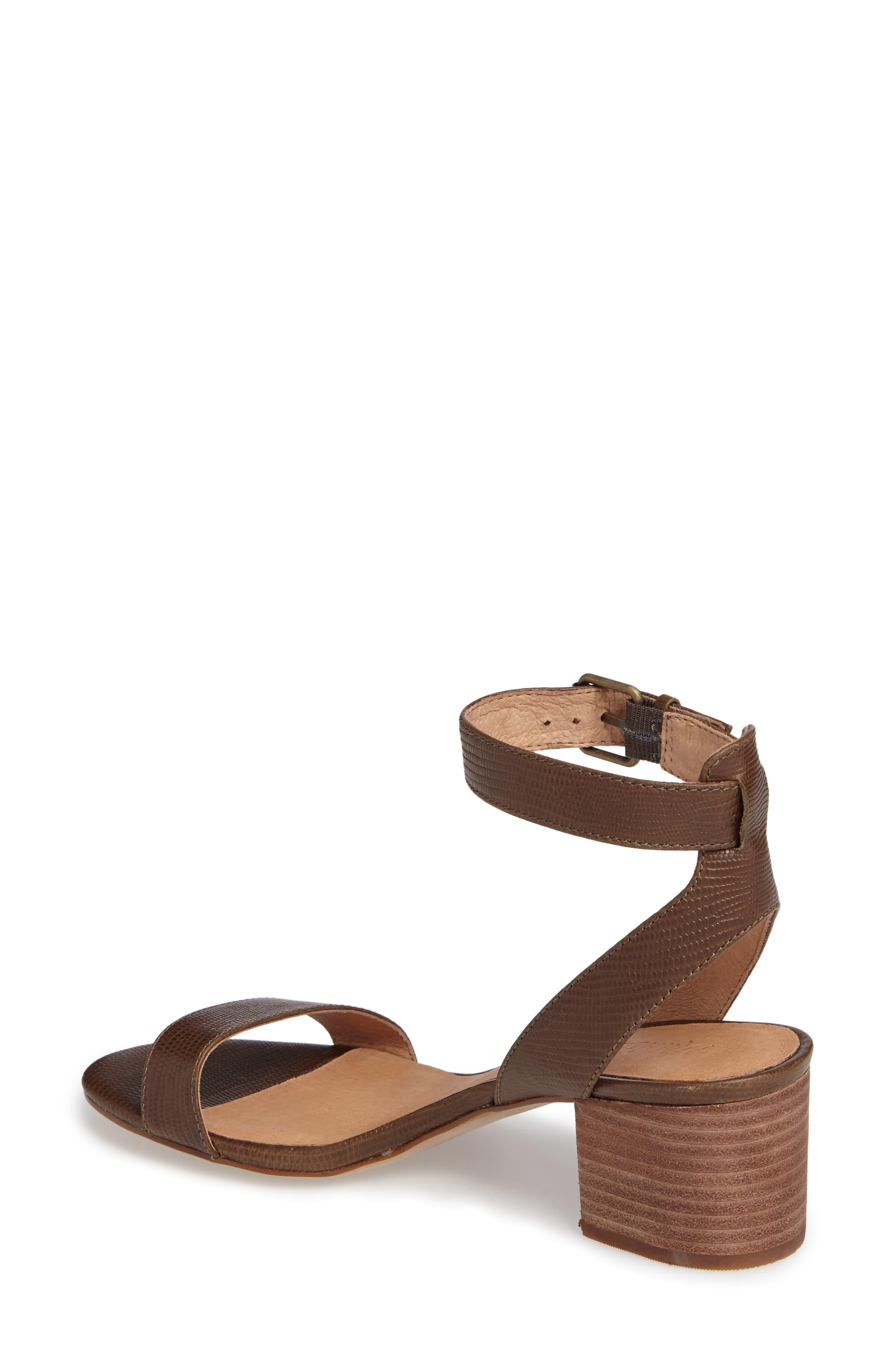 Alternate Image 2  - Madewell Alice Embossed Ankle Wrap Sandal (Women)