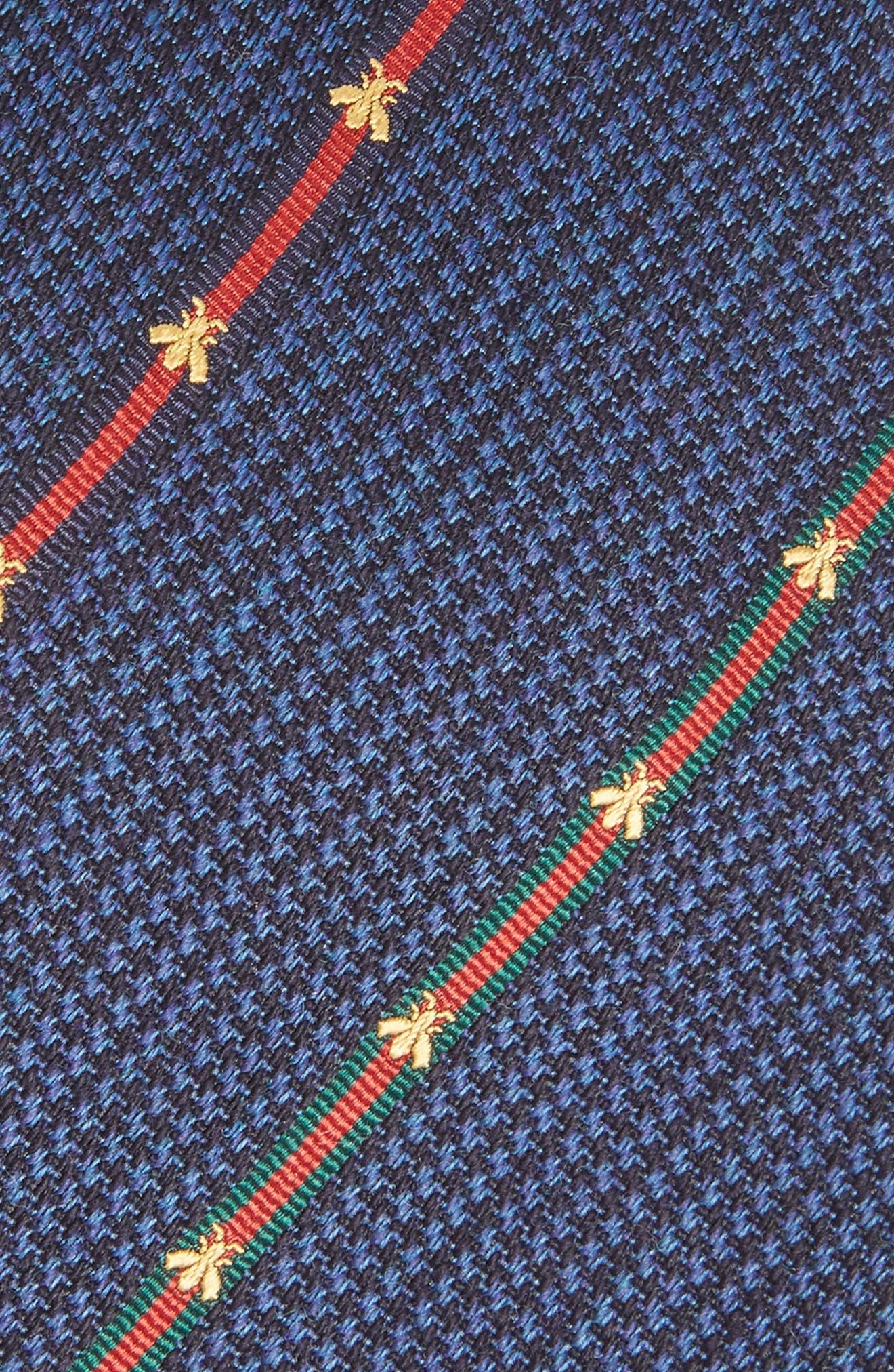Savanur Silk & Wool Tie,                             Alternate thumbnail 2, color,                             Navy