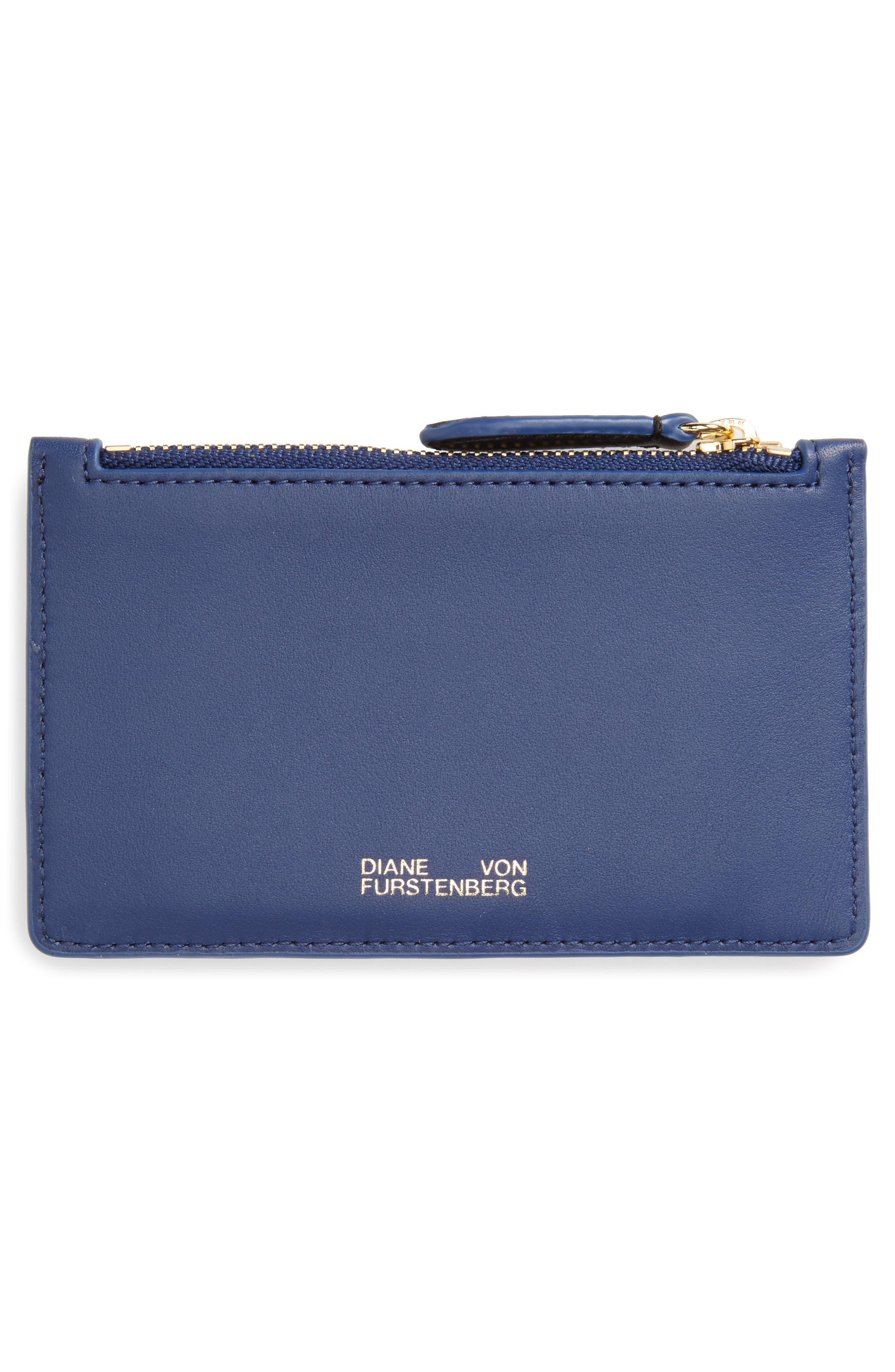 Alternate Image 2  - Diane von Furstenberg Leather Card Case