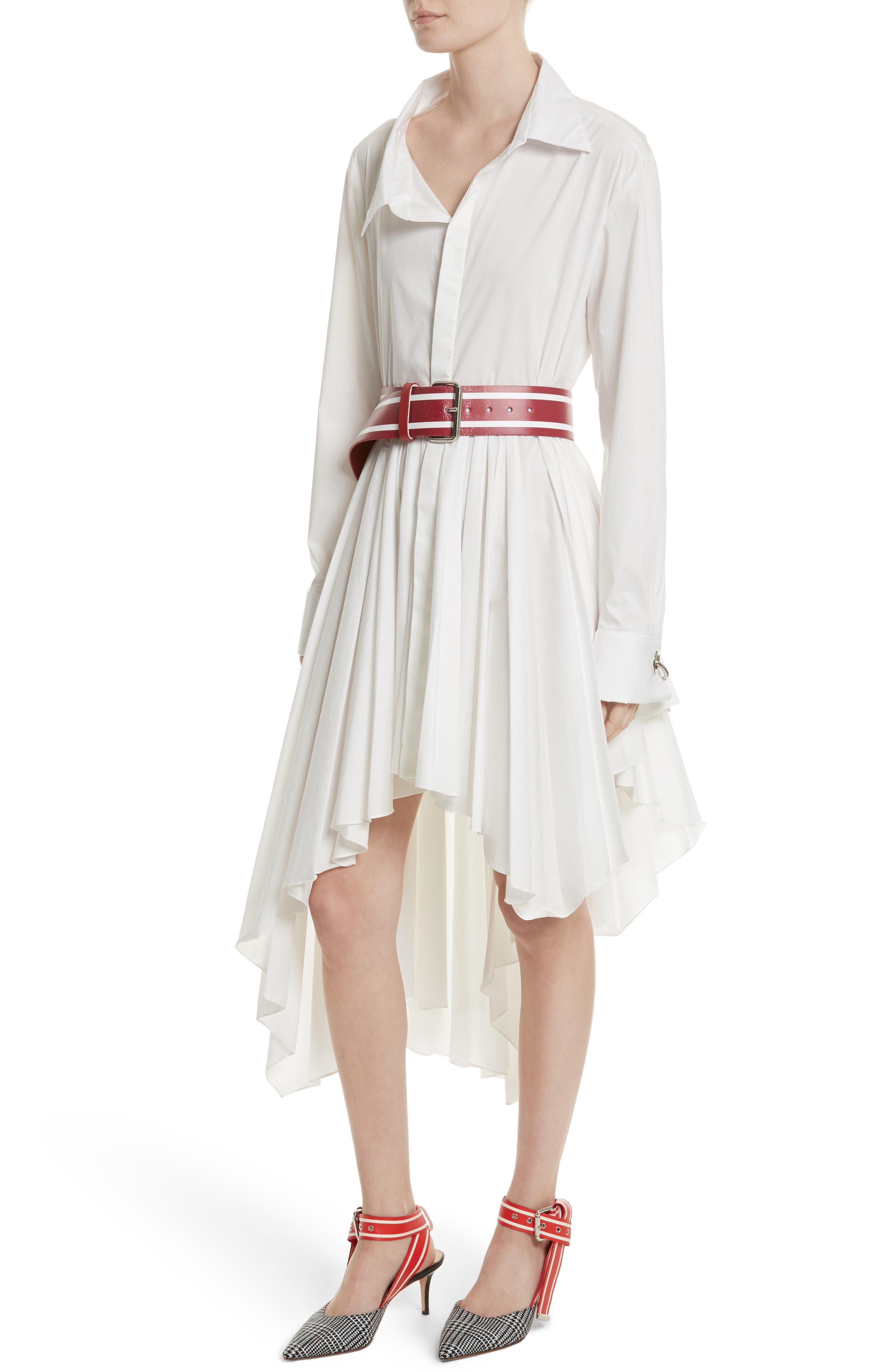 Main Image - MONSE Pleated Asymmetrical Shirtdress