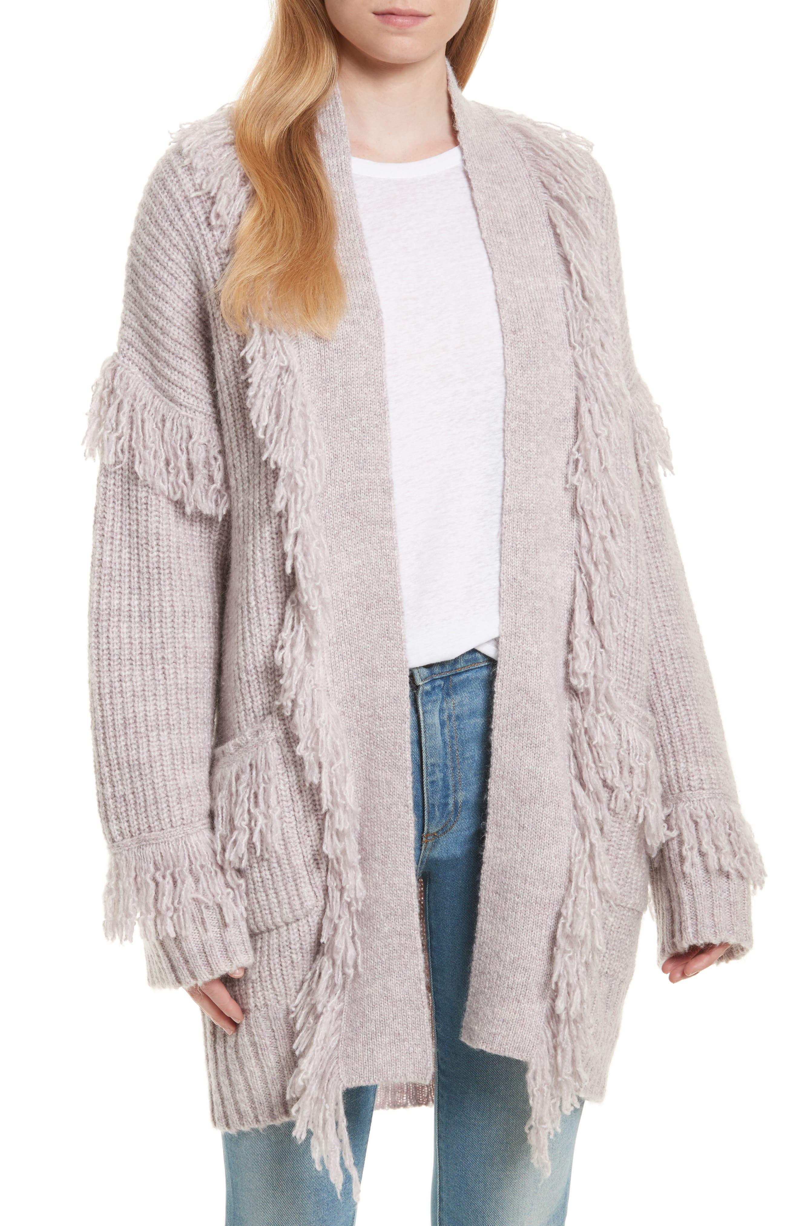 Rebecca Minkoff Berea Fringe Cardigan Sweater