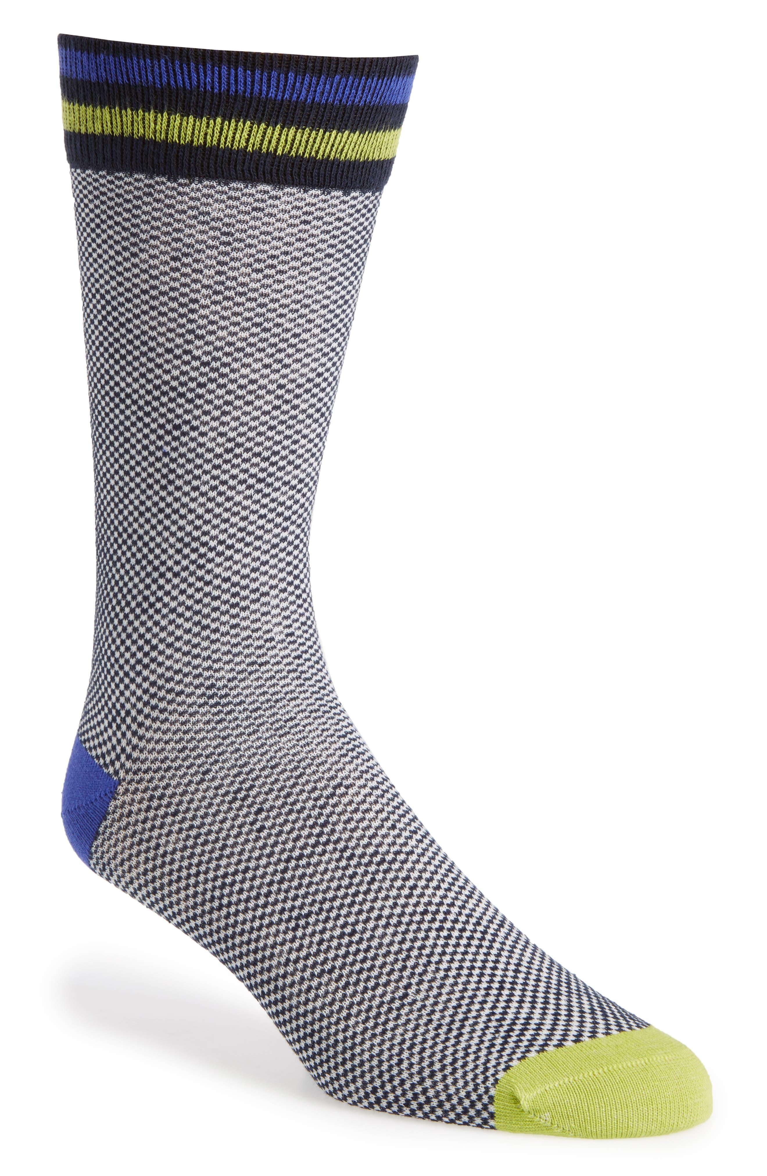 Oxford Socks,                         Main,                         color, Navy/ White