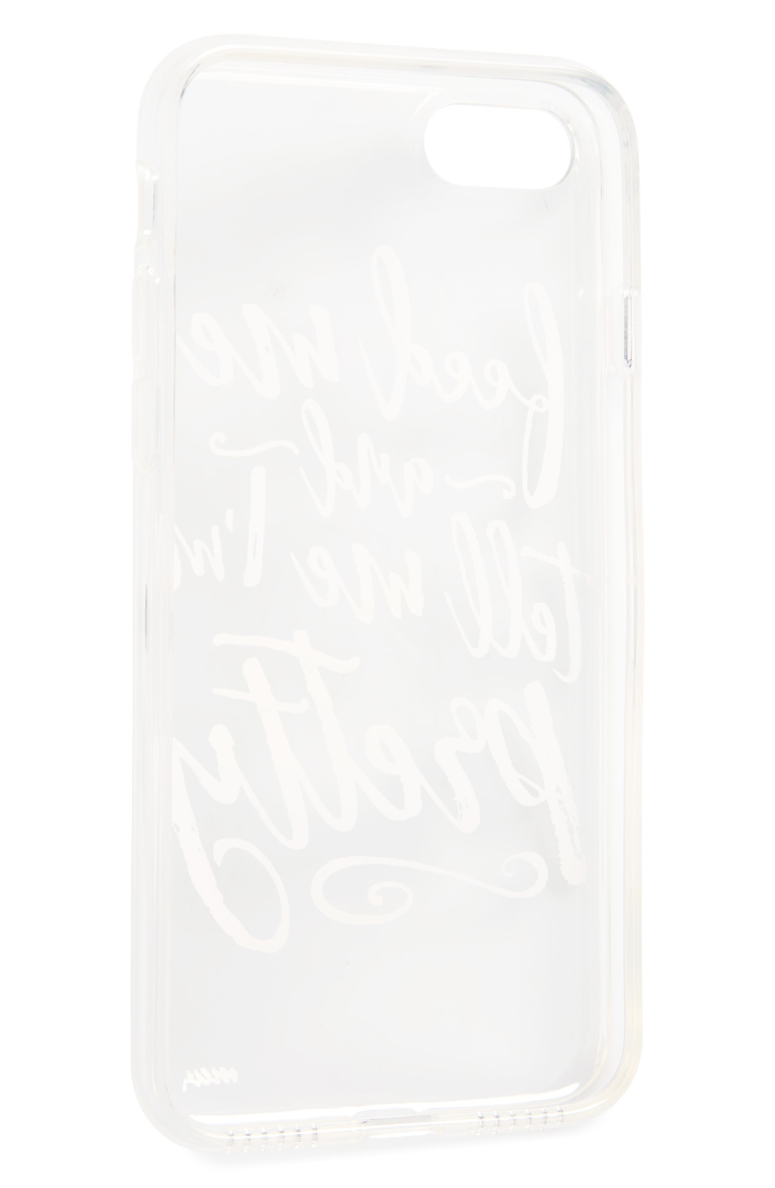 Feed Me iPhone 7 Case,                             Alternate thumbnail 2, color,                             Black/ White
