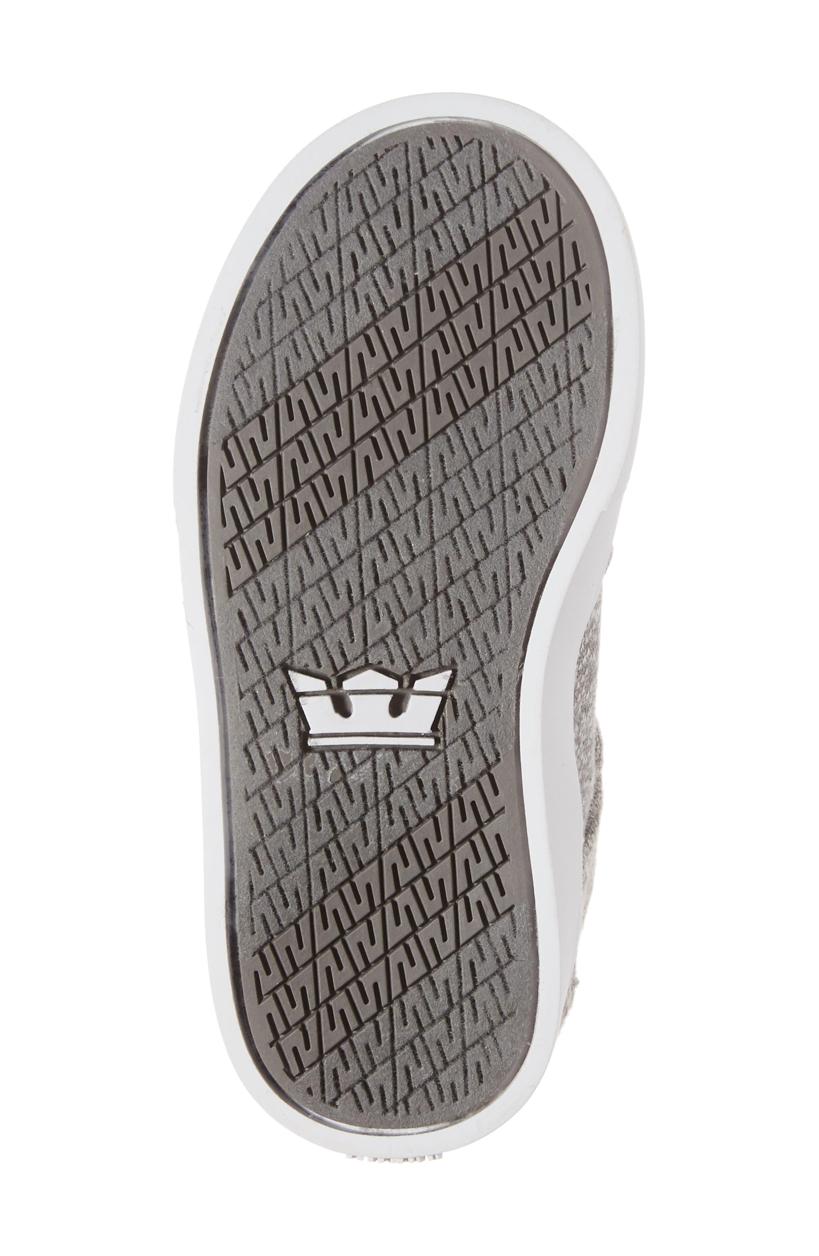 'Vaider' High Top Sneaker,                             Alternate thumbnail 5, color,                             Silver