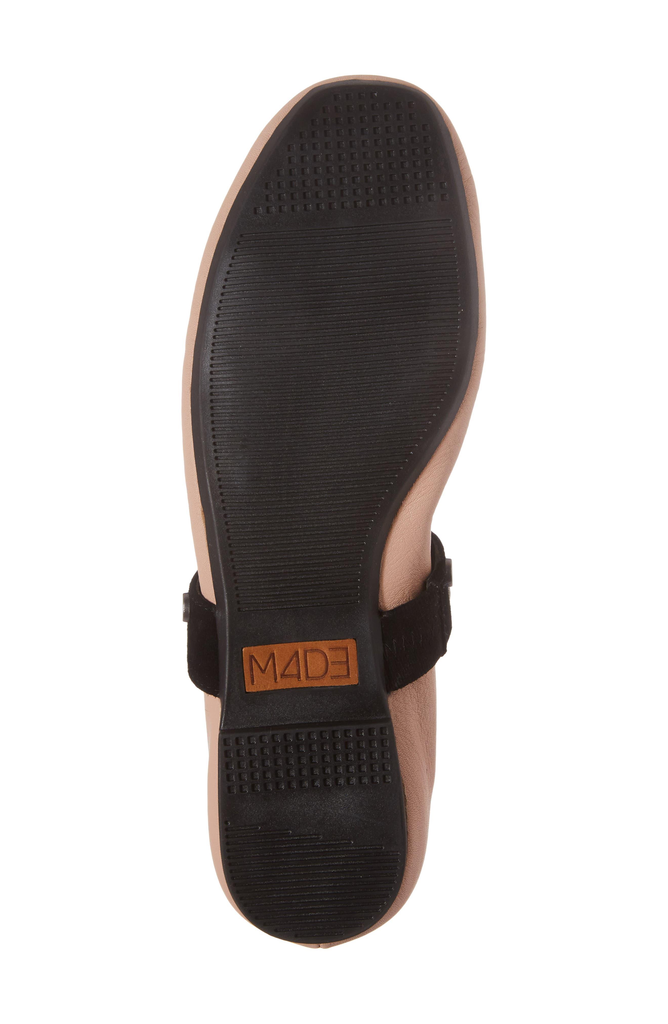 M4D3 Carla Wraparound Ankle Strap Flat,                             Alternate thumbnail 6, color,                             Blush Leather
