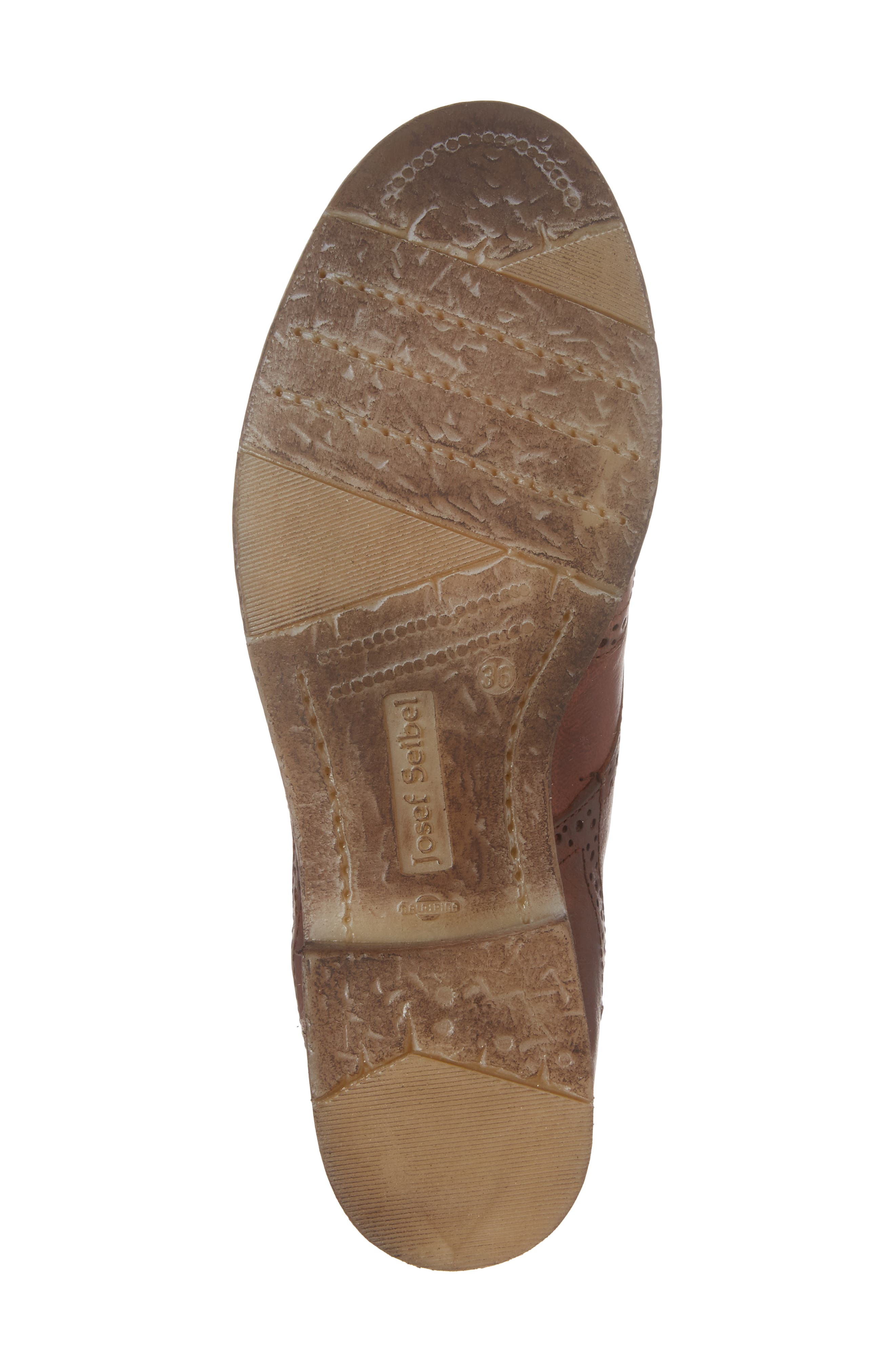 'Sienna 15' Wingtip Bootie,                             Alternate thumbnail 6, color,                             Camel Leather