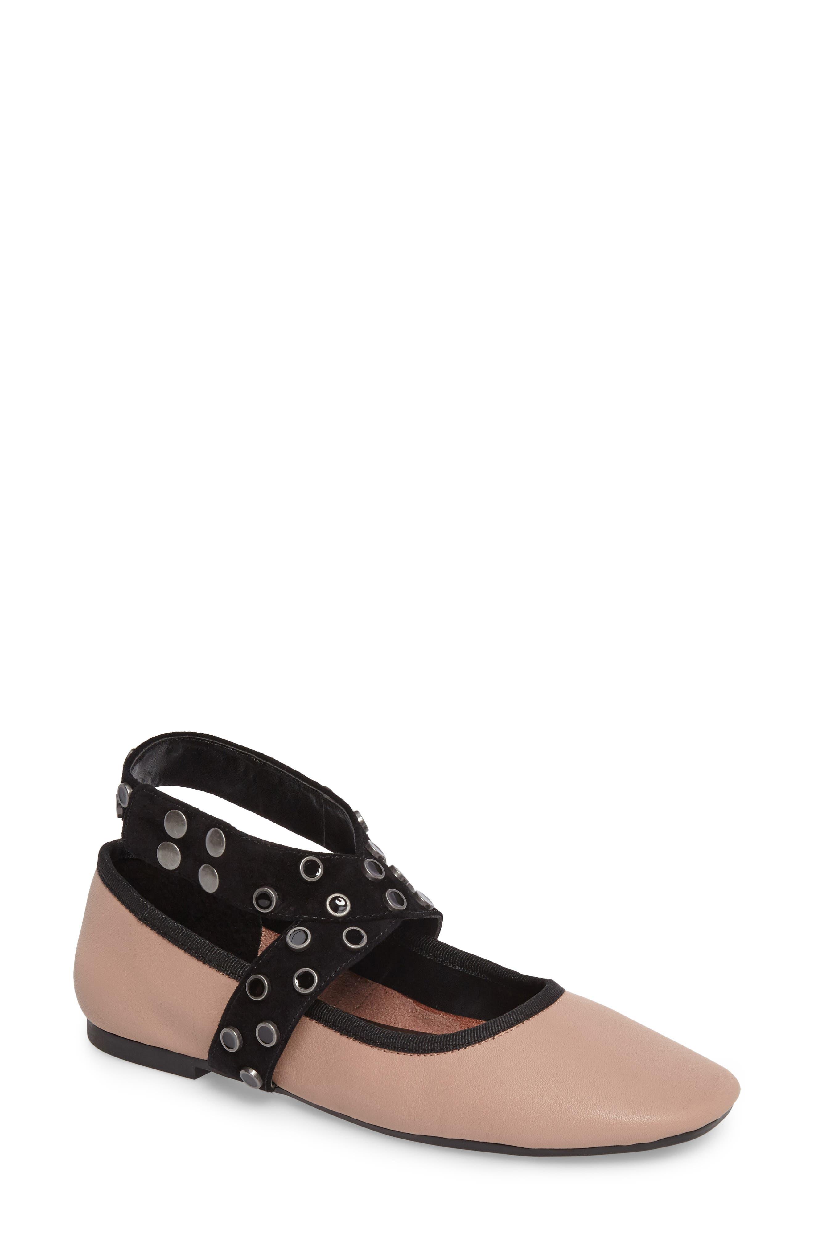 M4D3 Carla Wraparound Ankle Strap Flat,                         Main,                         color, Blush Leather