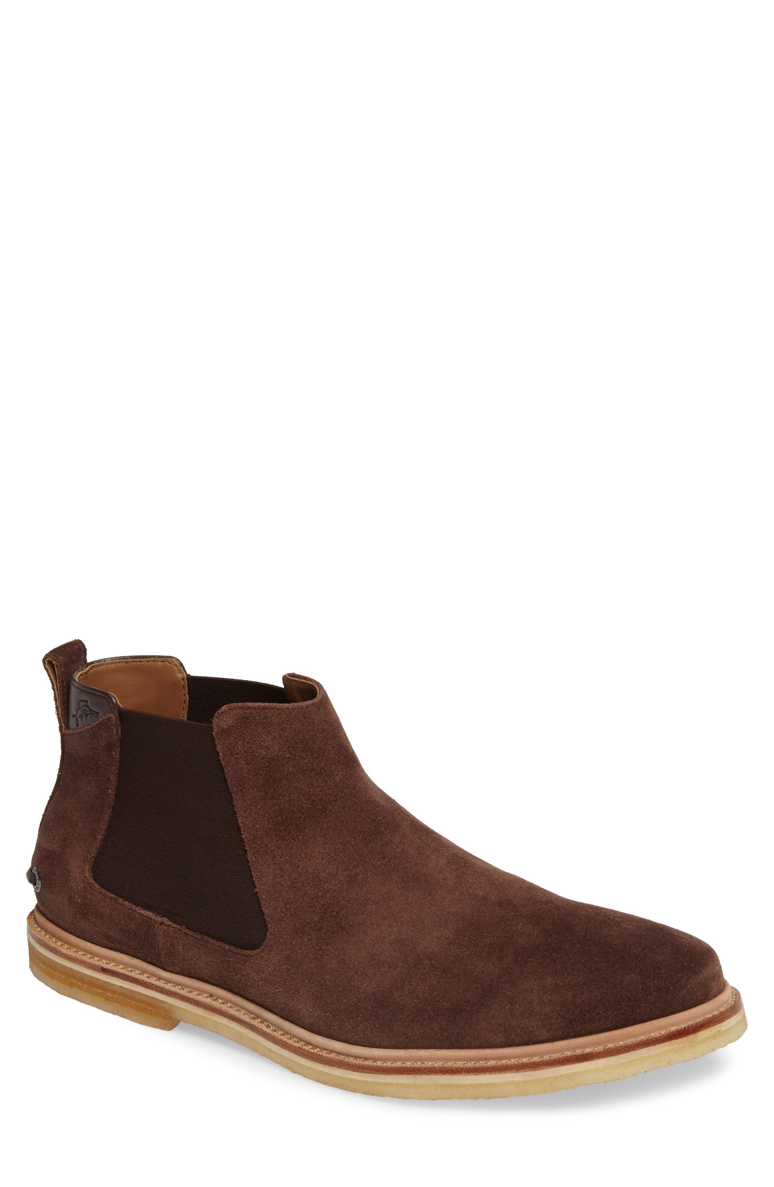 Legzira Beach Chelsea Boot,                         Main,                         color, Brown Suede