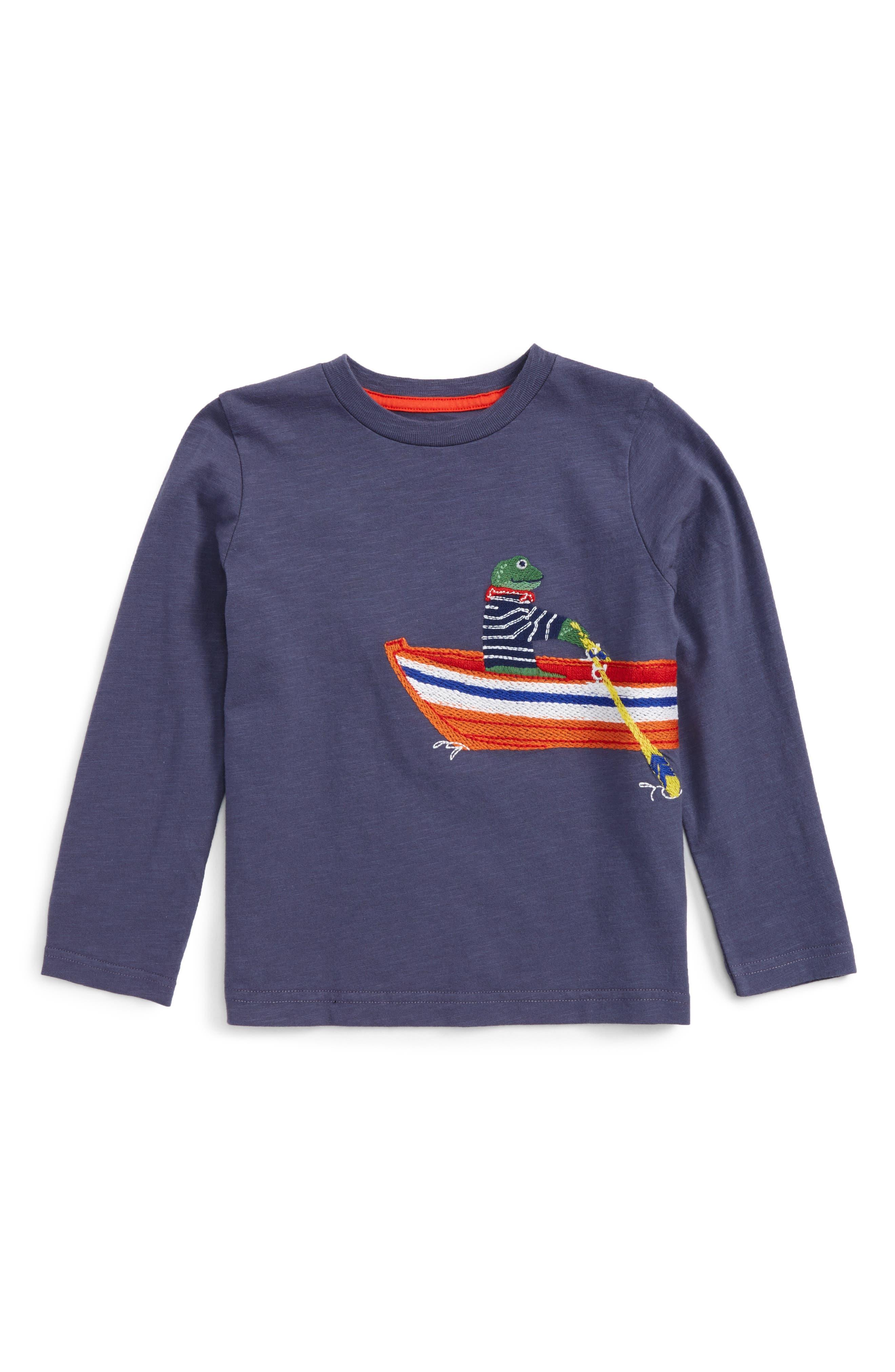 Alternate Image 1 Selected - Mini Boden Superstitch T-Shirt (Toddler Boys, Little Boys & Big Boys)