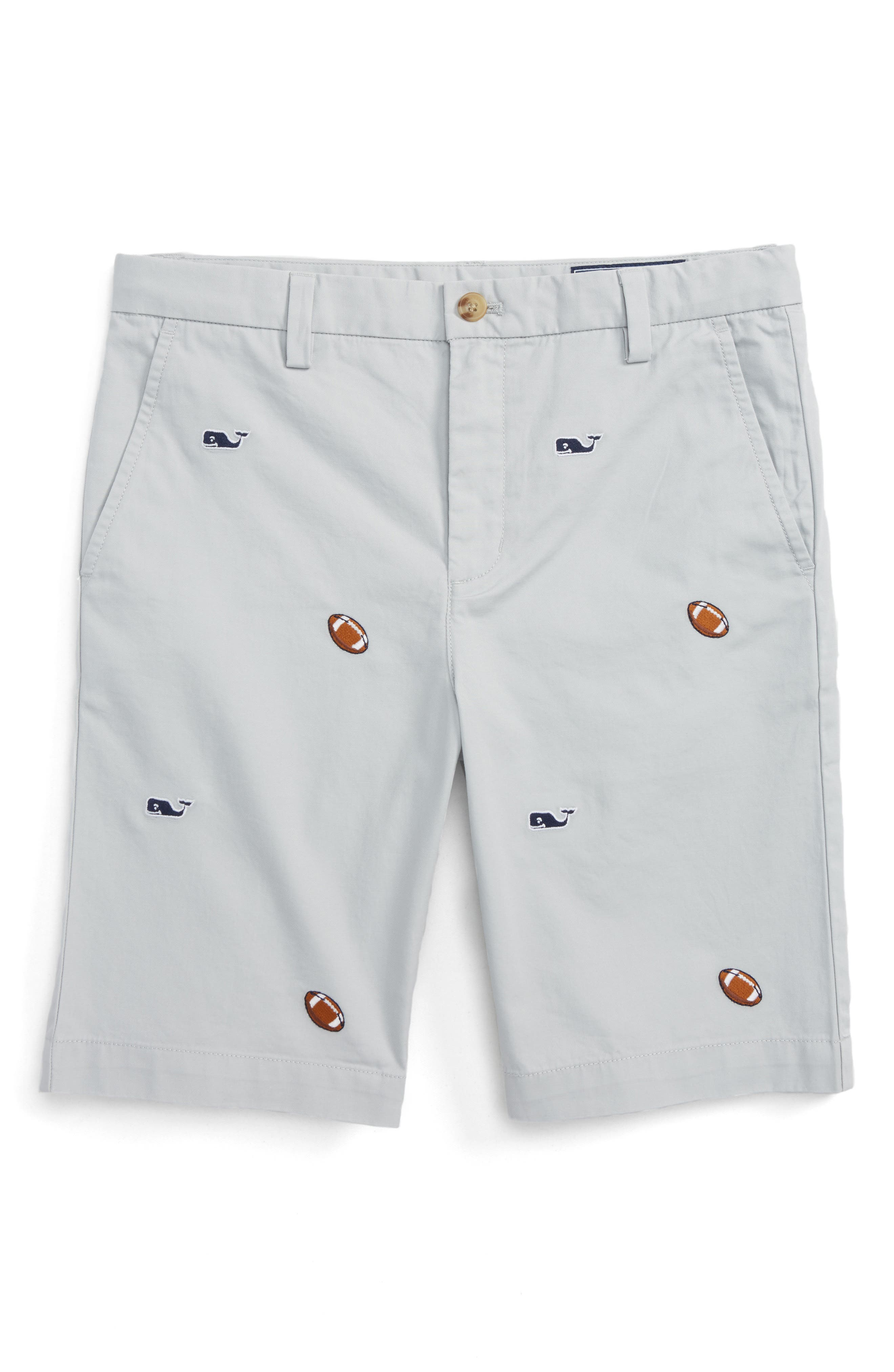 Vineyard Vines Breaker Football & Whale Embroidered Shorts (Toddler Boys, Little Boys & Big Boys)