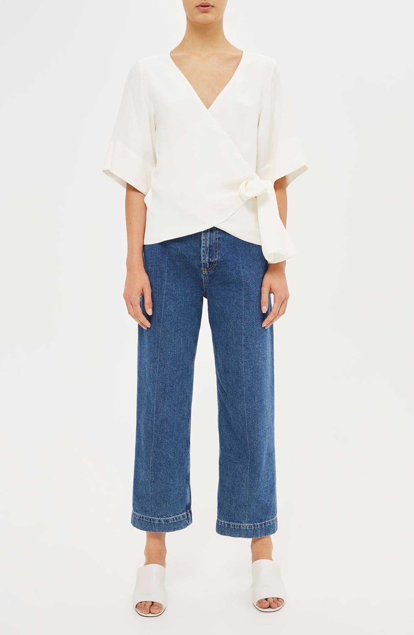Alternate Image 2  - Topshop Boutique Crepe Wrap Top