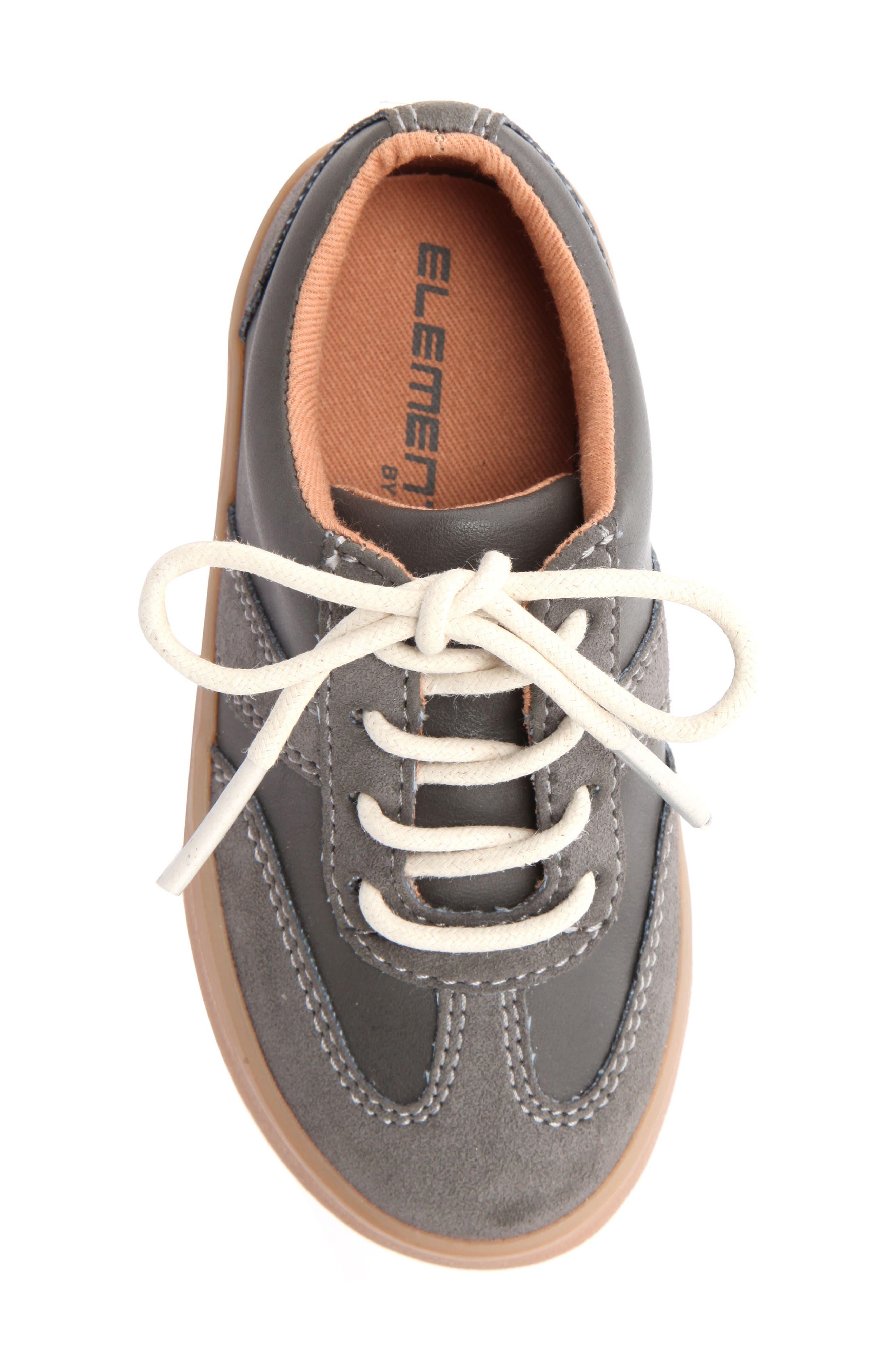 Neal Low Top Sneaker,                             Alternate thumbnail 5, color,                             Grey Suede