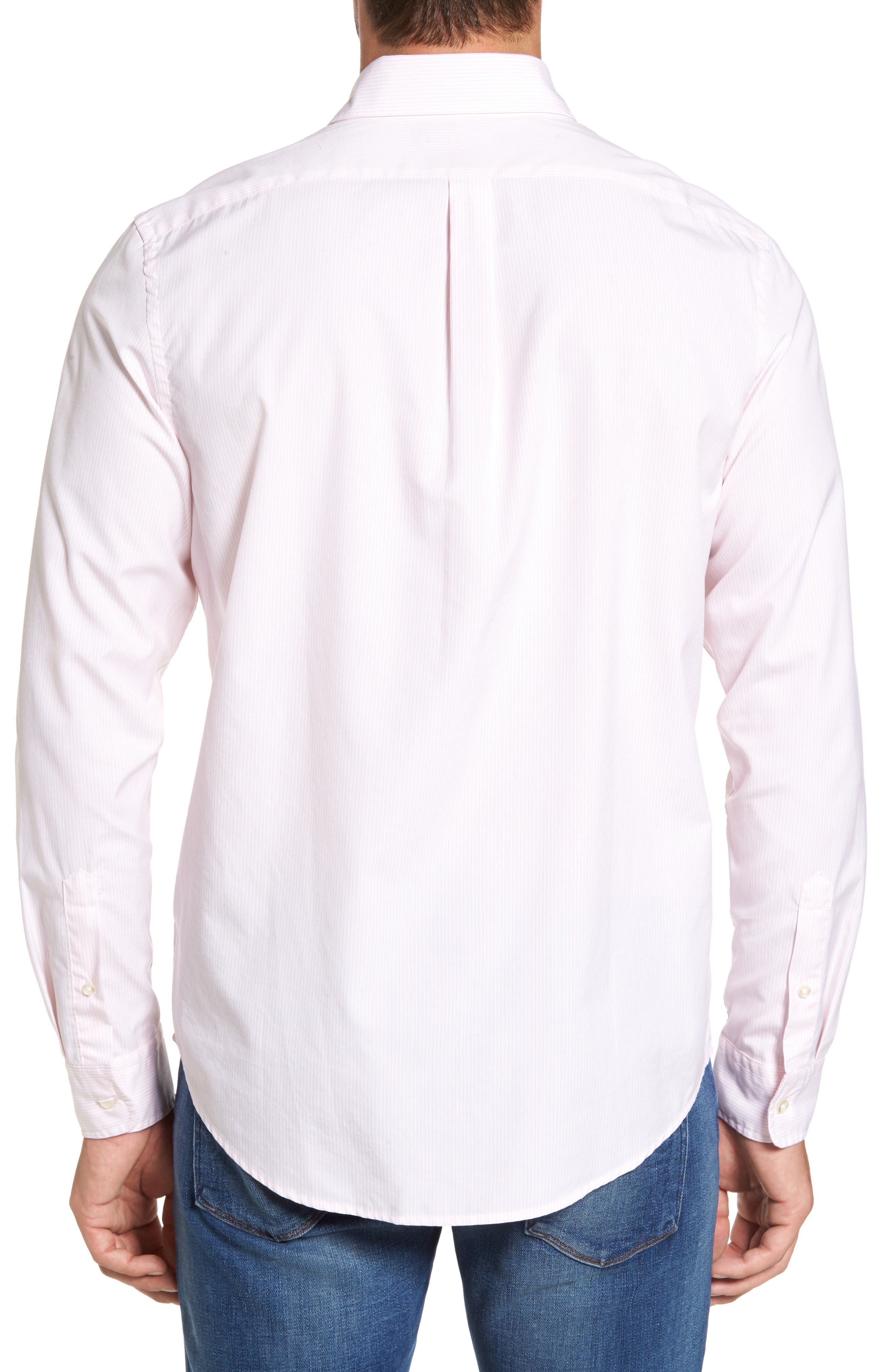 Alternate Image 2  - vineyard vines Seabird Stripe Tucker Slim Fit Sport Shirt