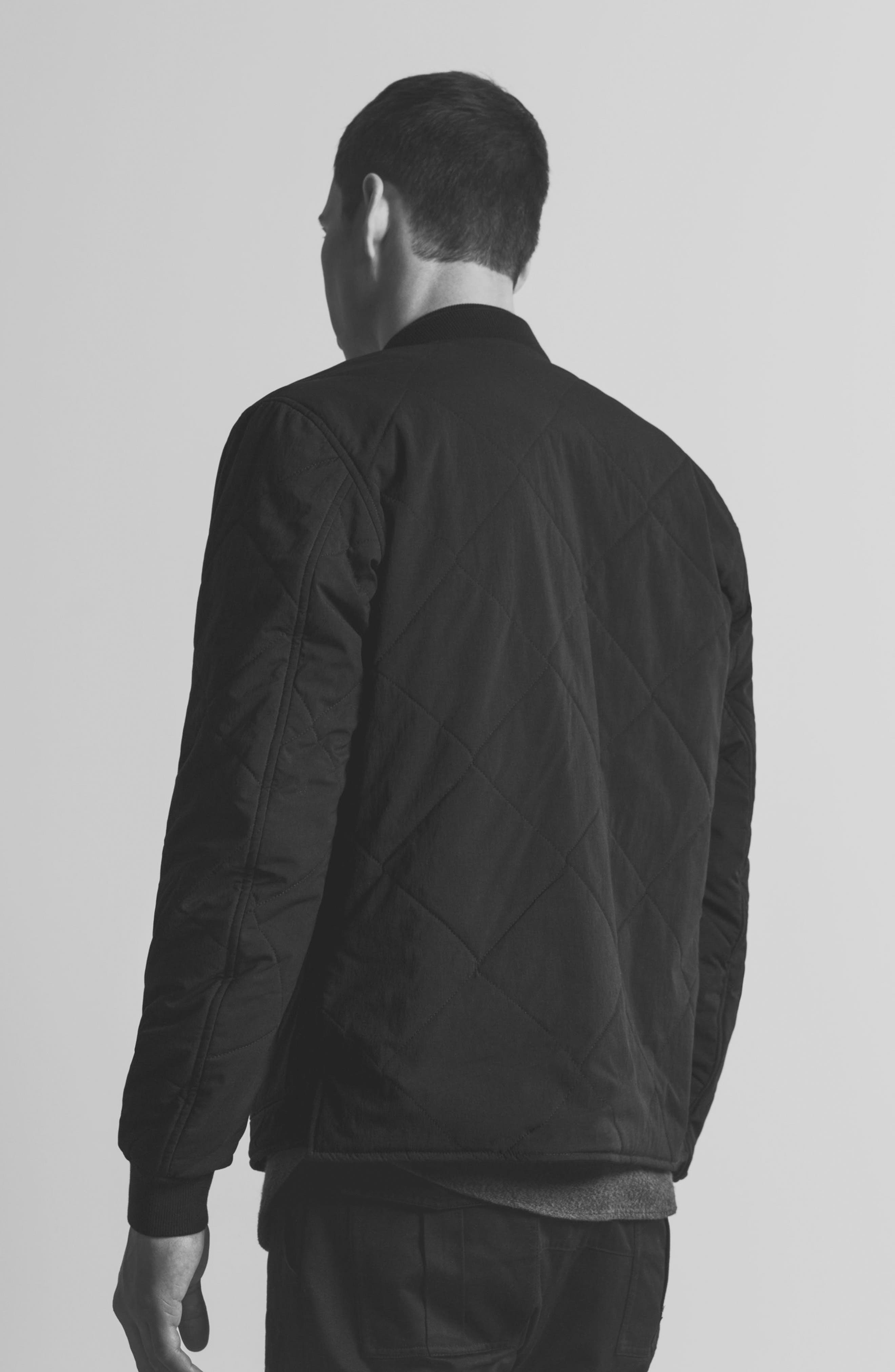 Alternate Image 10  - wings + horns Alpha Quilted Bomber Jacket