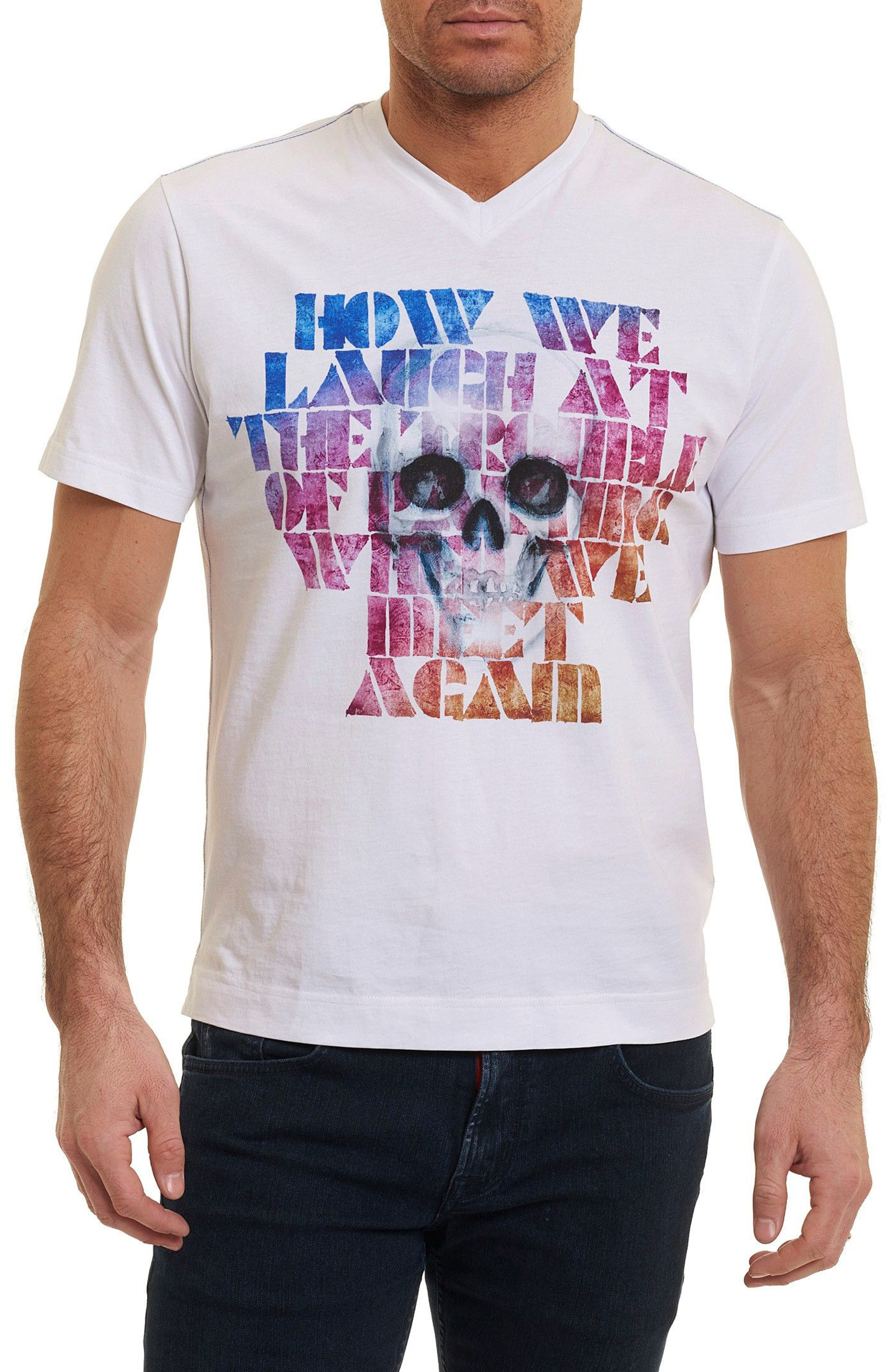 How We Laugh T-Shirt,                         Main,                         color, White