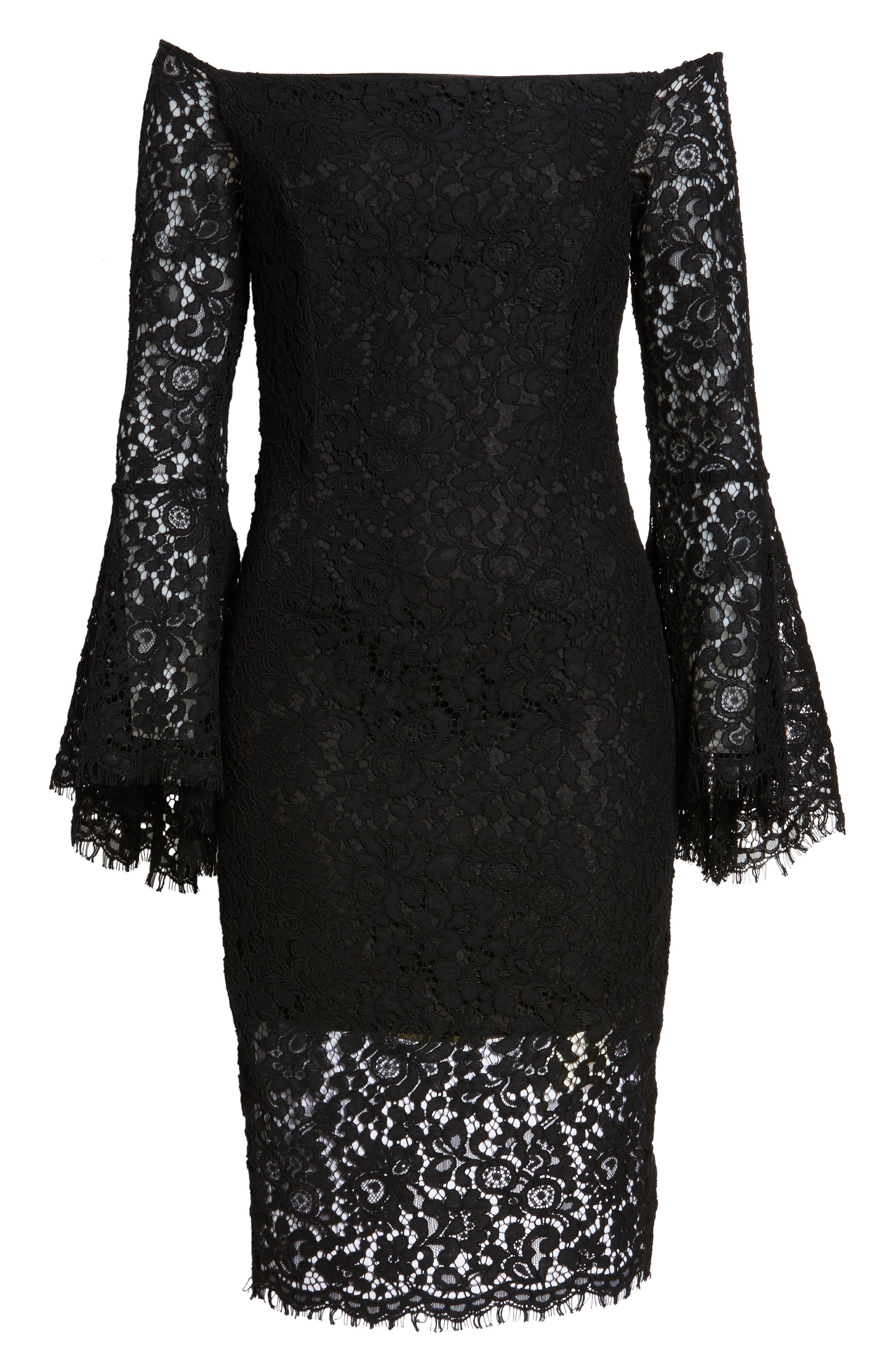 Alternate Image 6  - Bardot Solange Corded Lace Sheath Dress