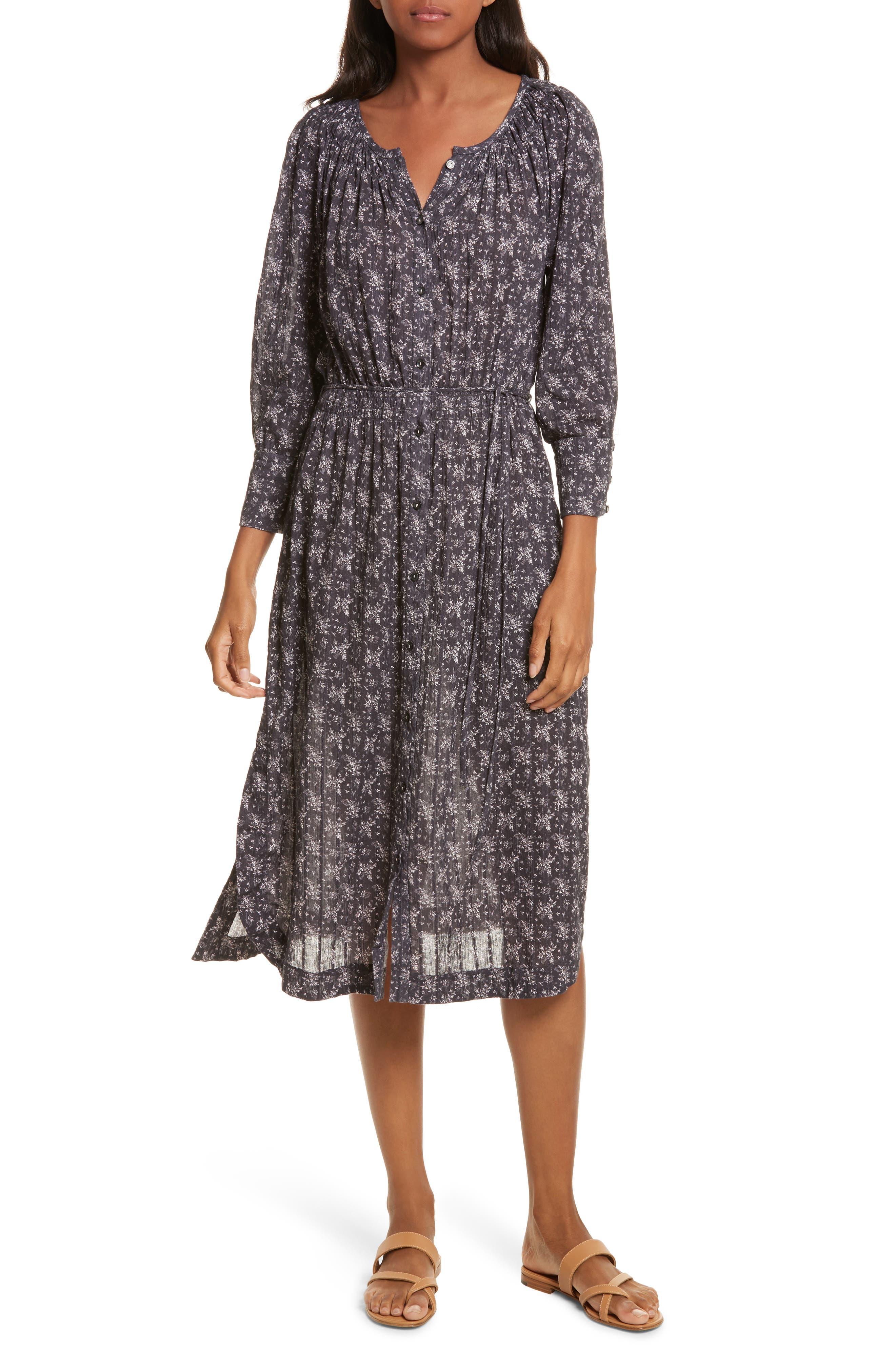 Angelique Long Sleeve Dress,                         Main,                         color, Black Combo