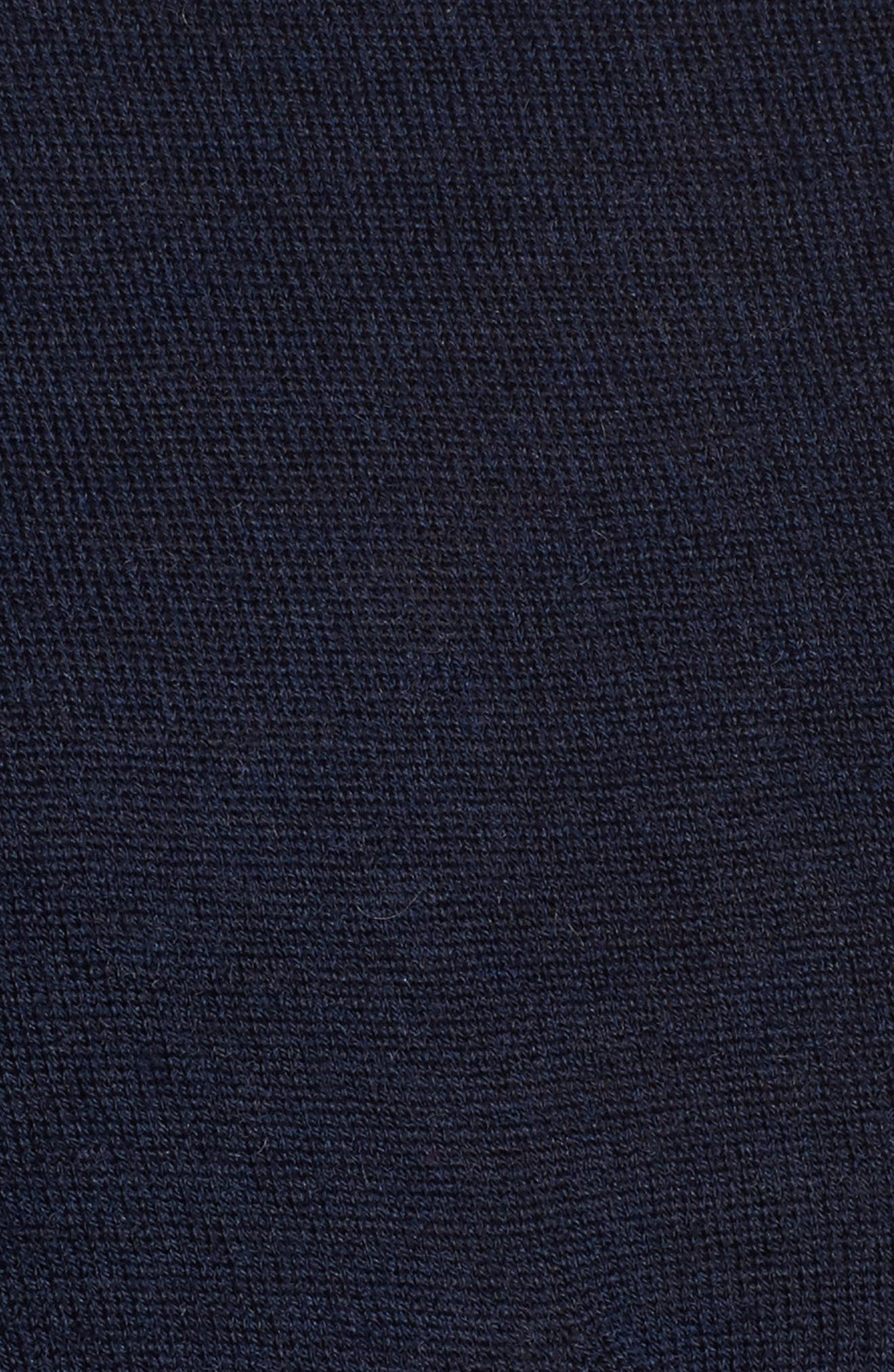 x Something Navy One-Sleeve Sweater,                             Alternate thumbnail 5, color,                             Navy Night