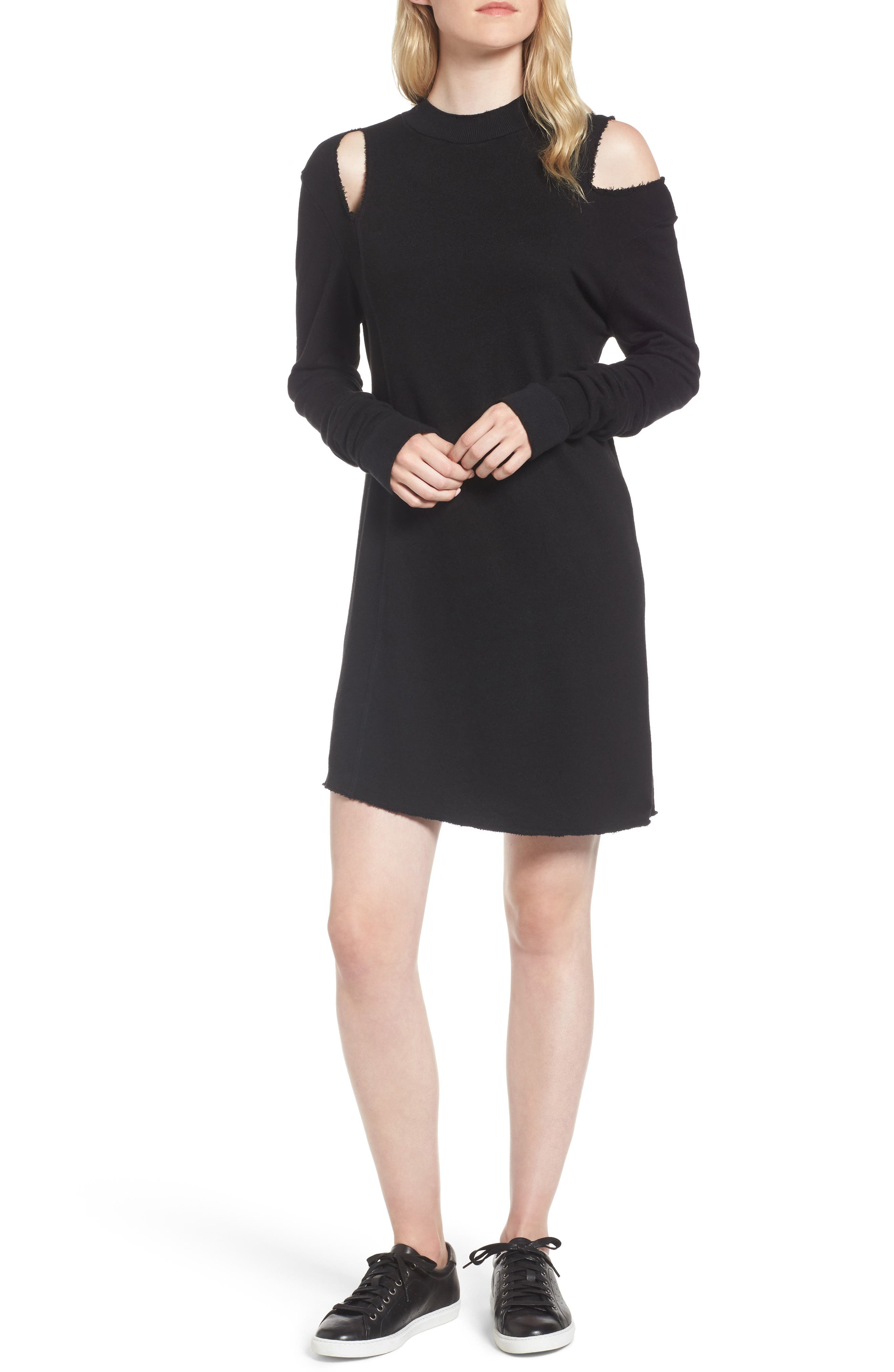 Kyra Minidress,                             Main thumbnail 1, color,                             Black Cat