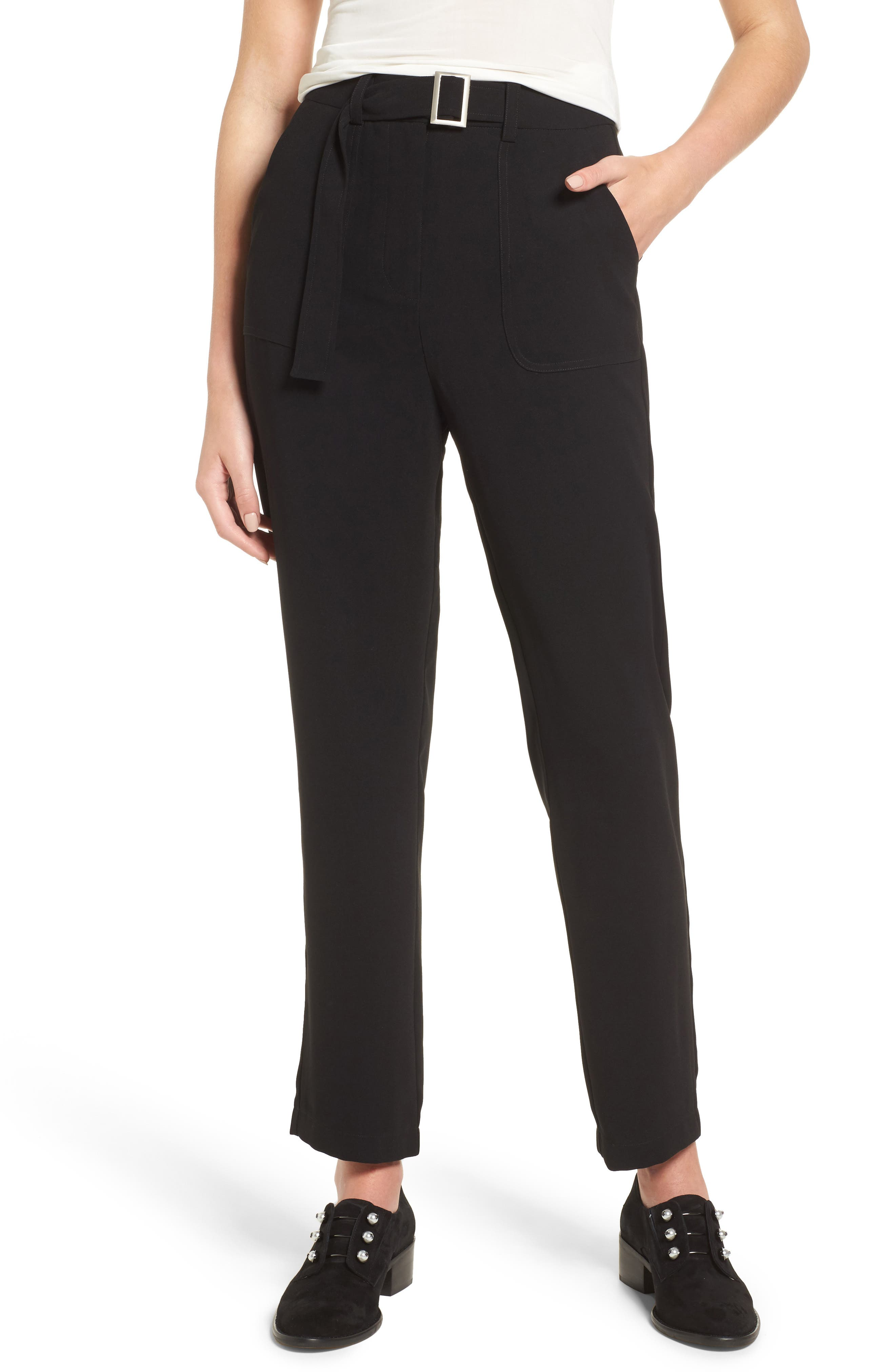 J.O.A. Belted Ankle Pants