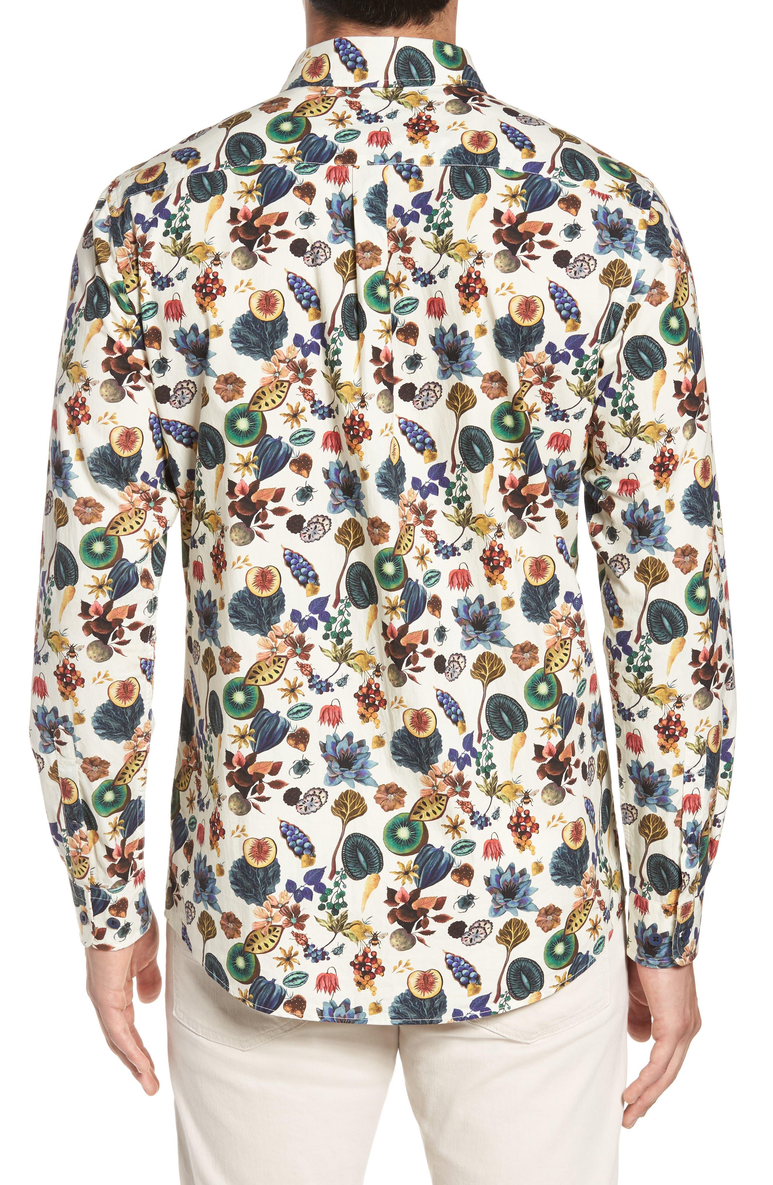 Aldamere Sports Fit Sport Shirt,                             Alternate thumbnail 2, color,                             Botanical
