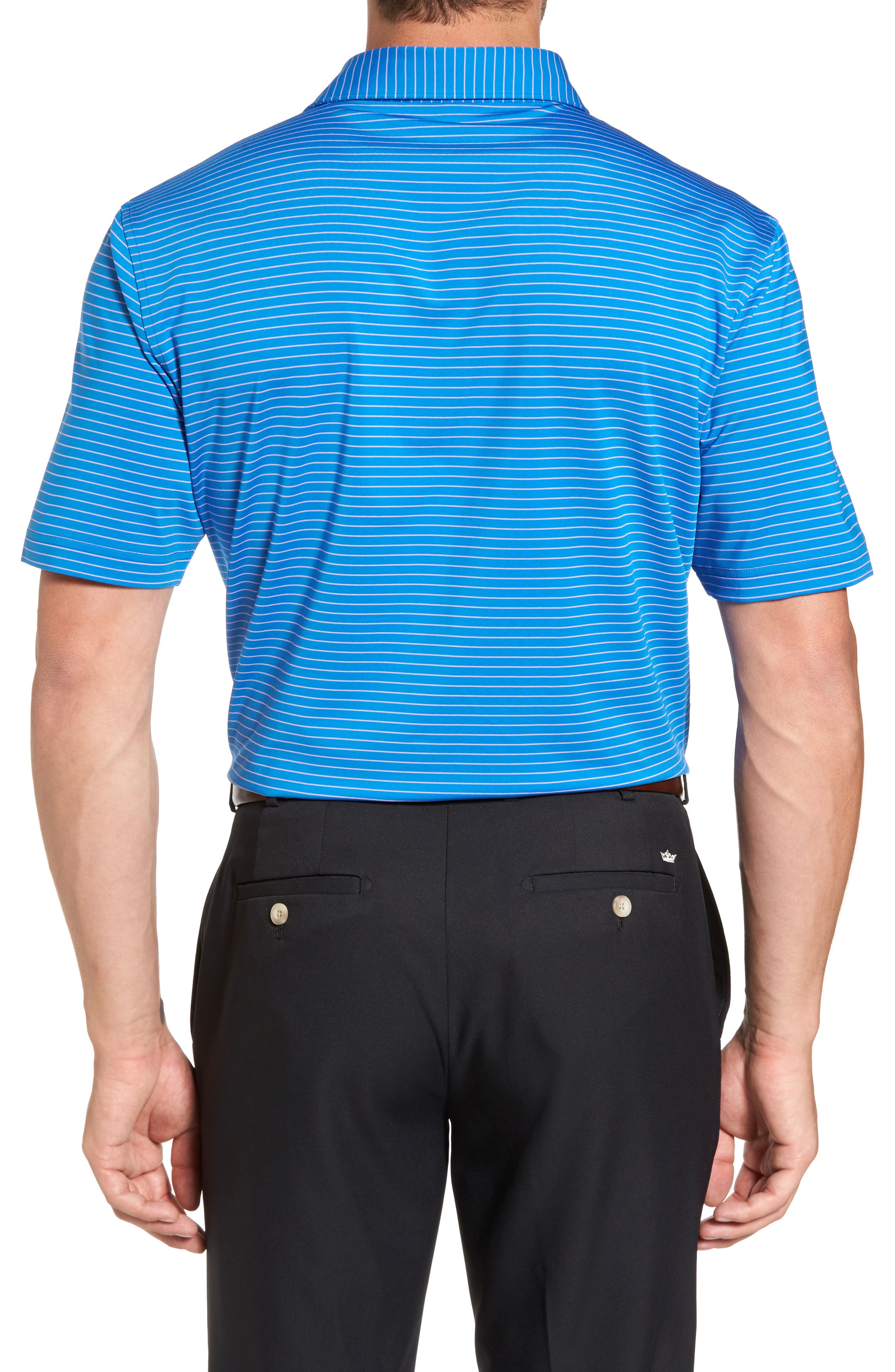 Stripe Polo,                             Alternate thumbnail 2, color,                             Parisian Blue