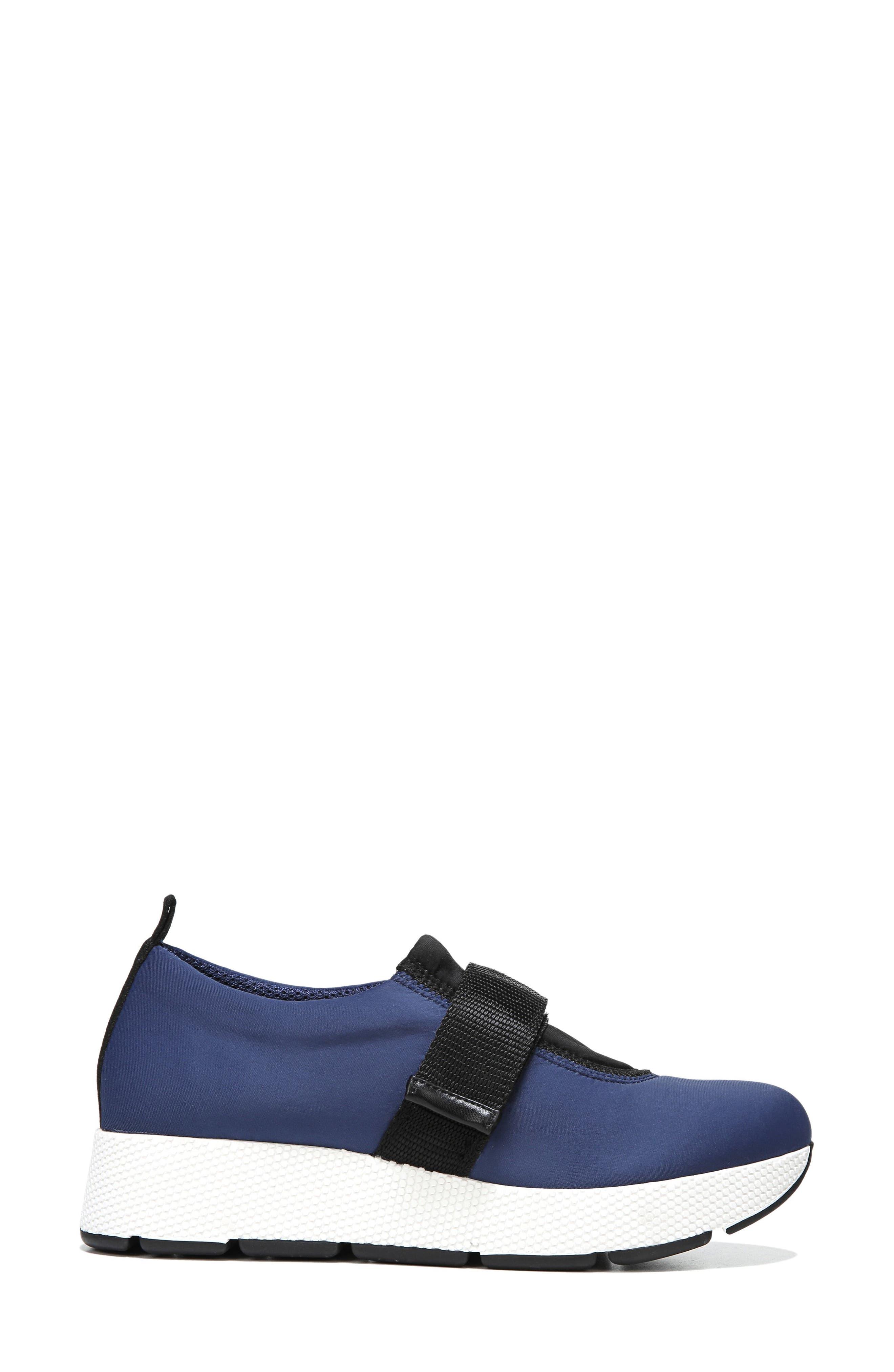 Odella Slip-On Sneaker,                             Alternate thumbnail 3, color,                             Navy Fabric