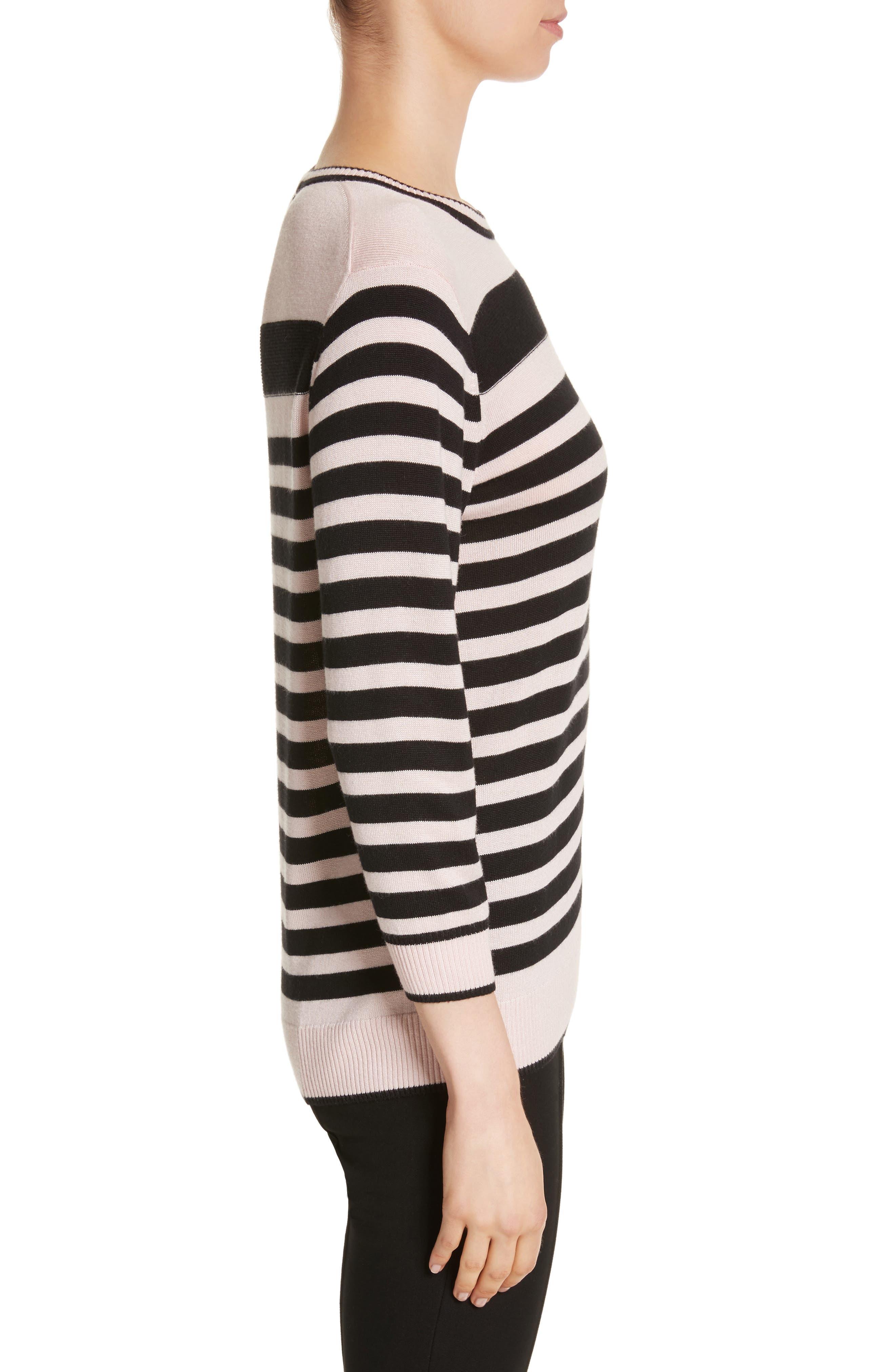Alternate Image 3  - St. John Collection Intarsia Stripe Sweater